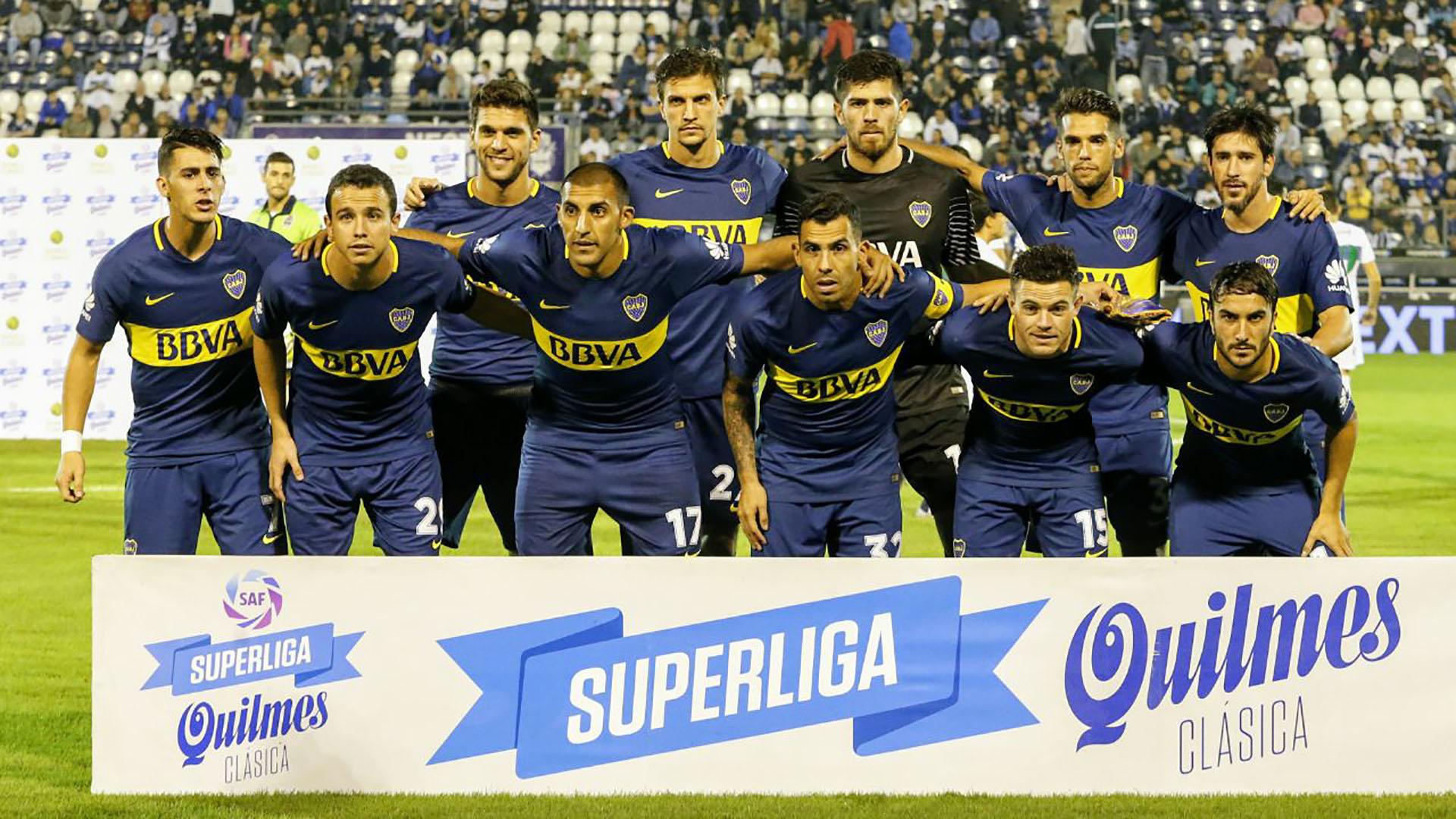 La formación de Boca ante Gimnasia en La Plata (Foto: Nicolás Aboaf)