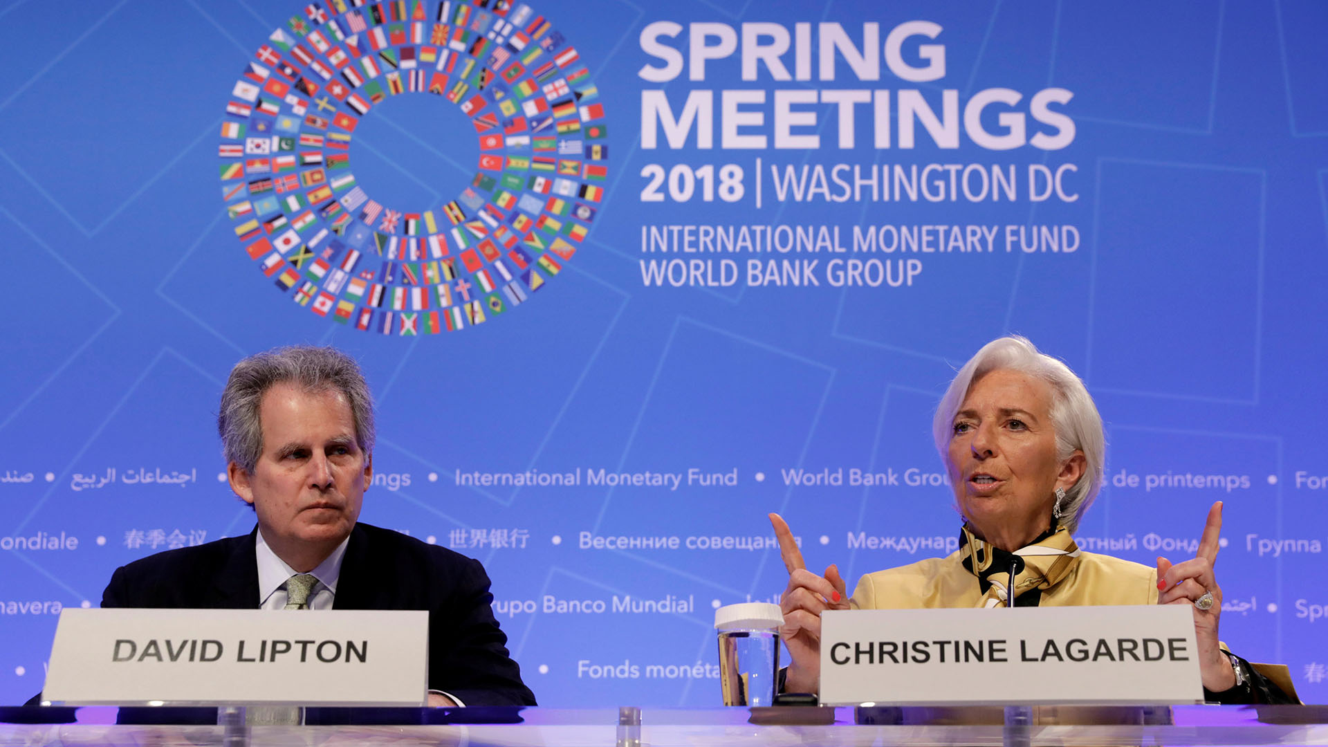 Christine Lagarde y David Lipton