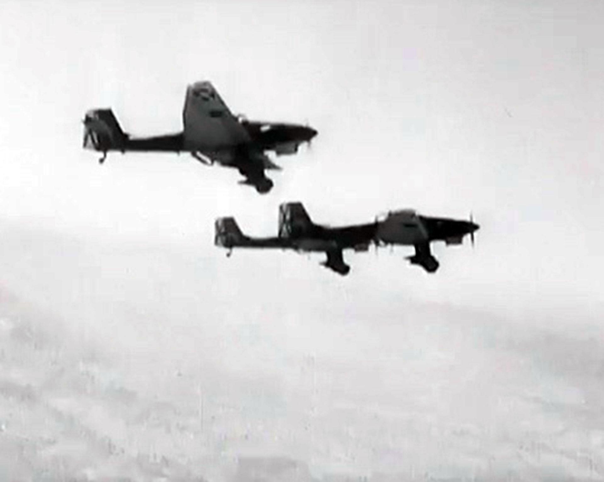 Dos bombarderos Stuka cruzan los aires de Europa. Constituyeron un arma letal de la Alemania nazi