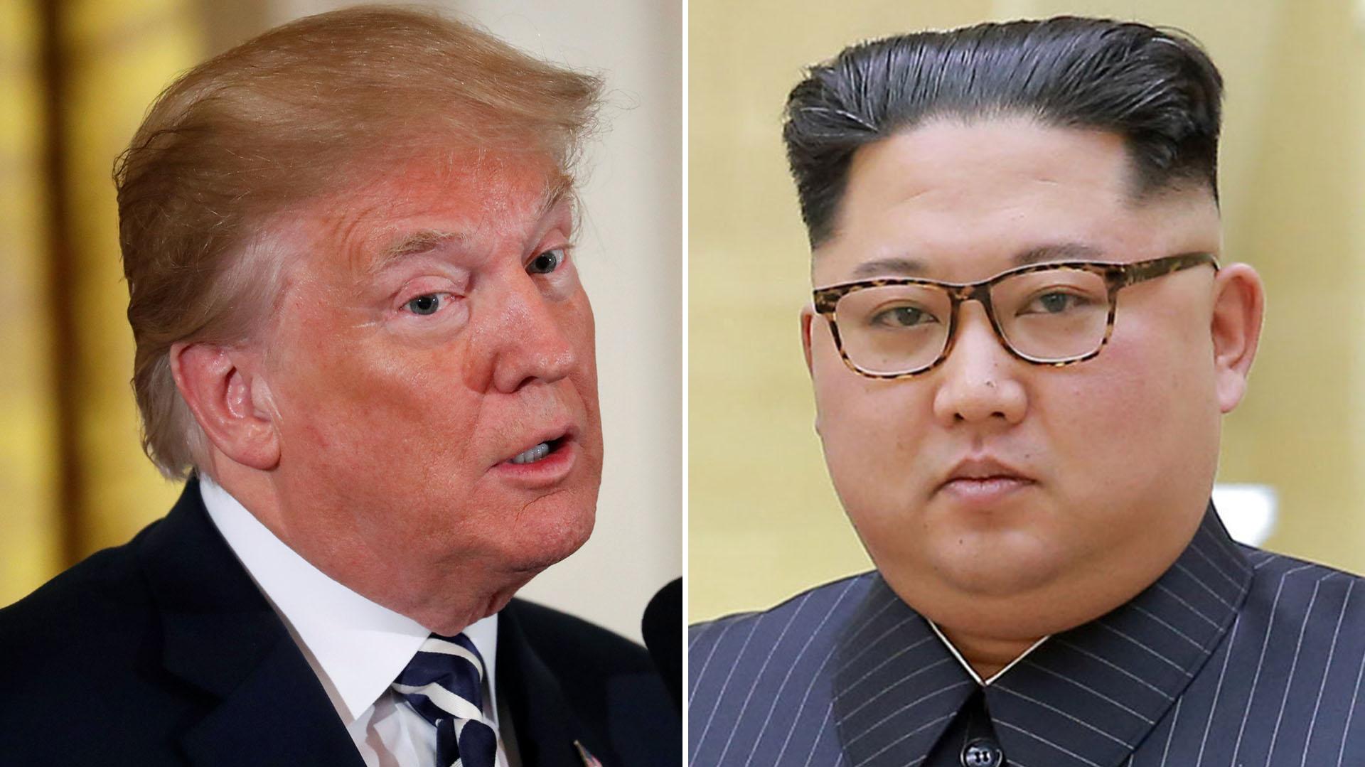 Donald Trump, presidente de Estados Unidos, y el líder norcoreano Kim Jong-un