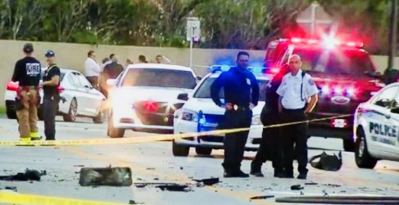 La escena del accidente que tuvo lugar en Fort Lauderdale alrededor de las 6:45 p.m. del pasado martes