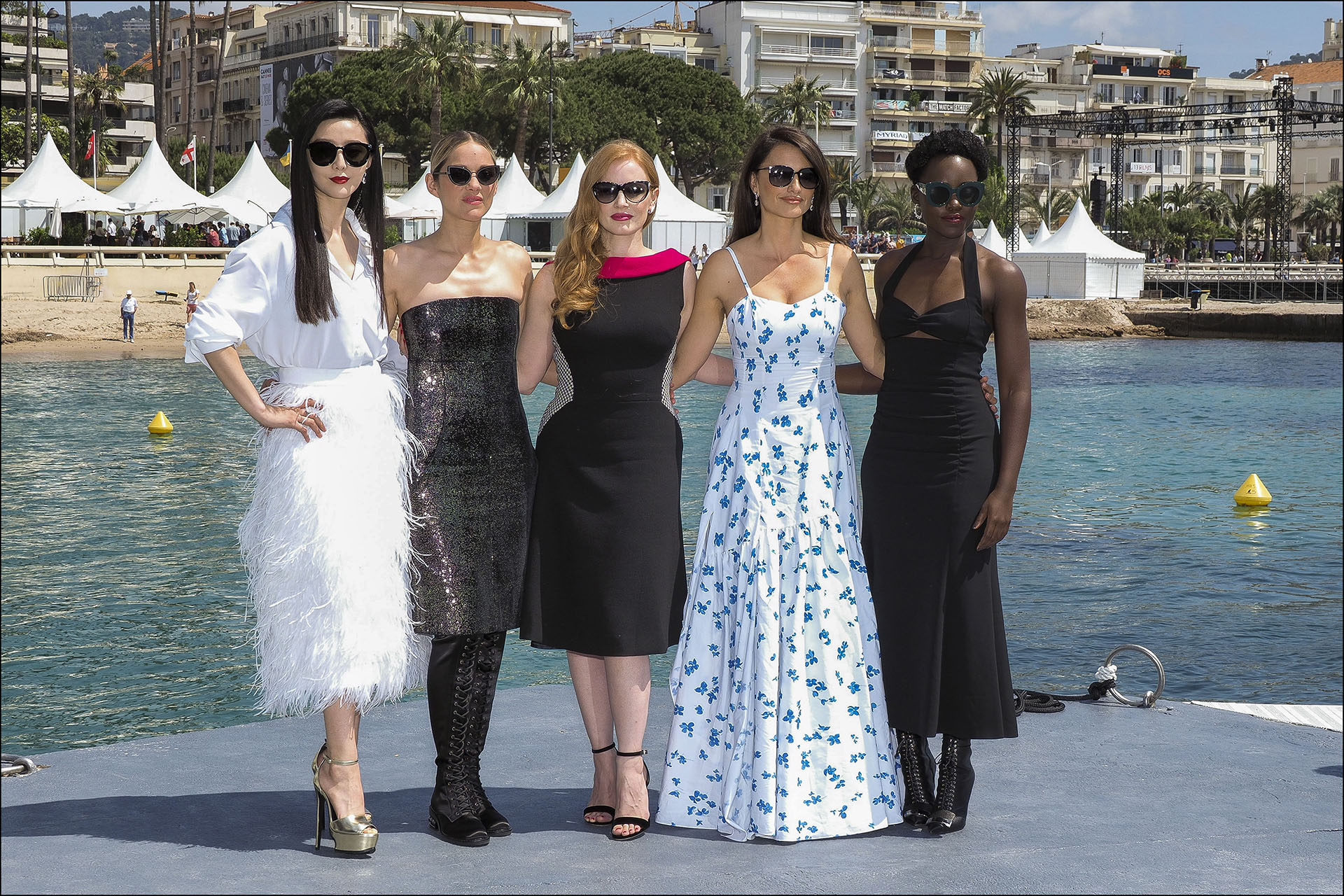Marion Cotillard, Jessica Chastain, Penélope Cruz, Lupita Nyong'o, en el segundo día de la presentación con looks más diurnos