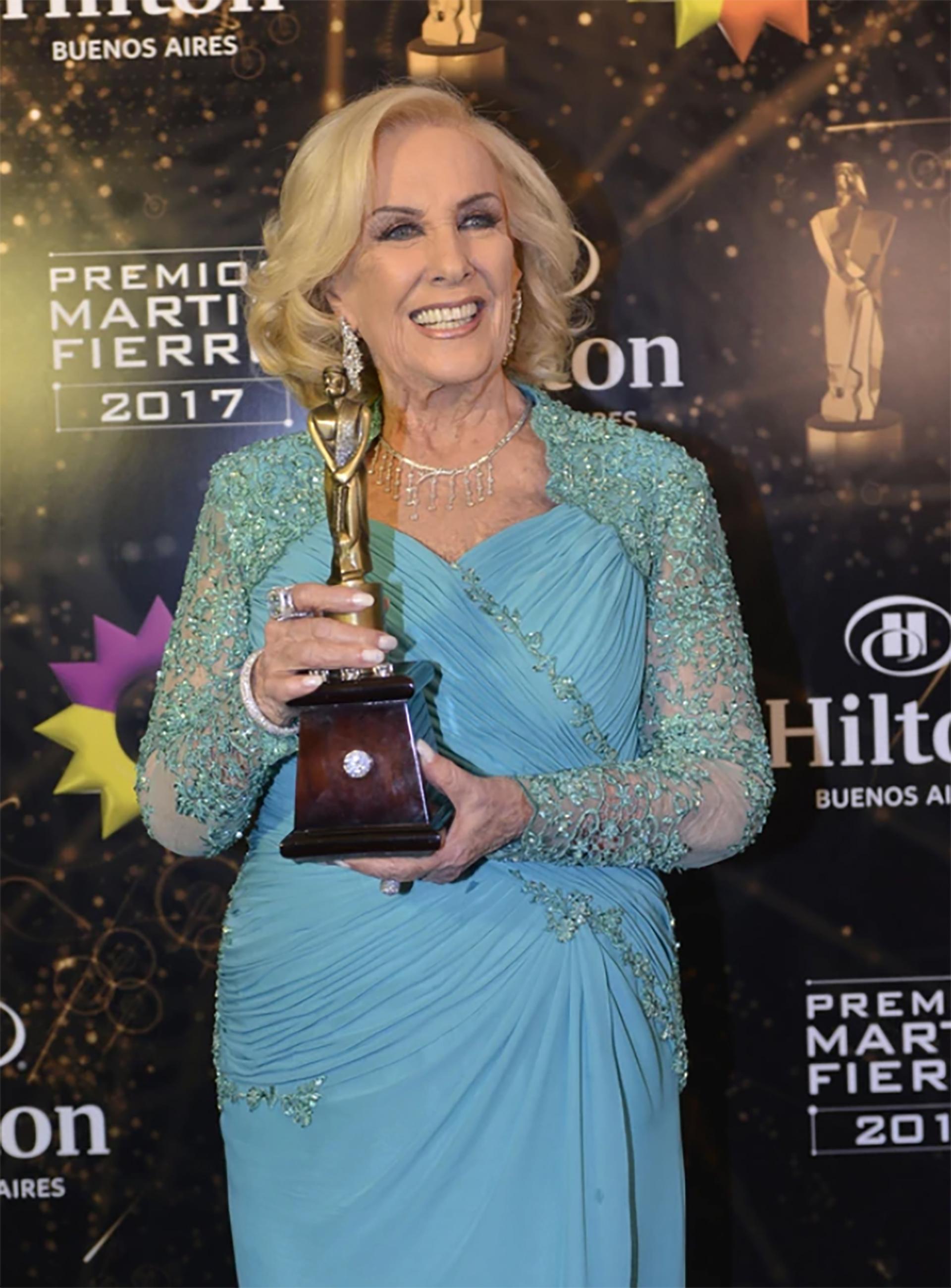 Mirtha Legrand en los premios Martín Fierro del año pasado