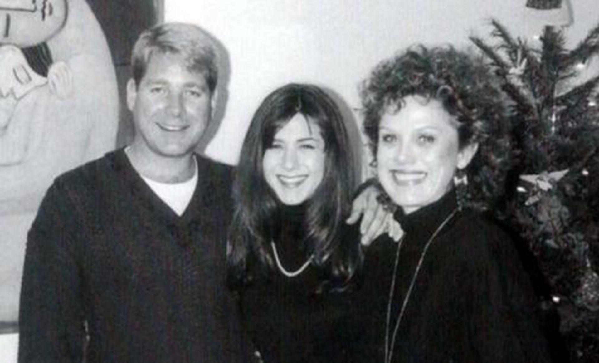 Jennifer Aniston con sus padres.