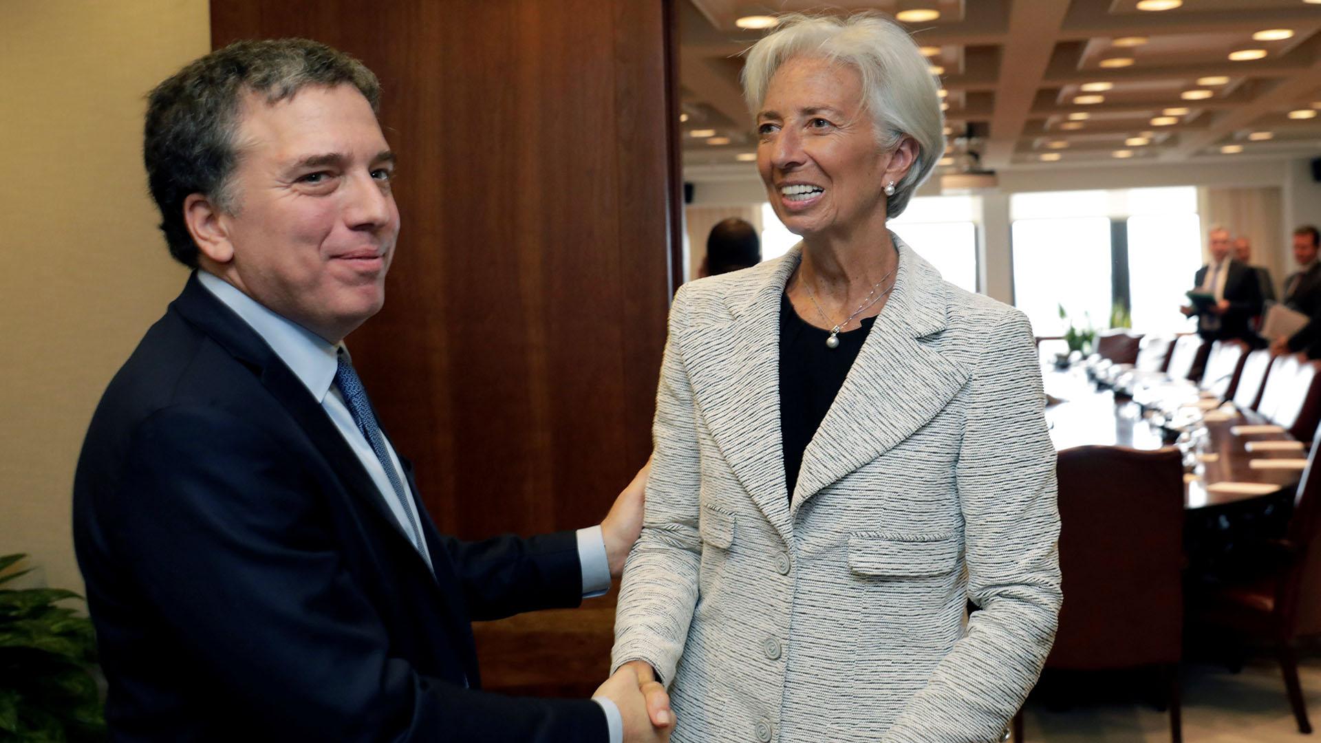 Lagarde y Dujovne. (Reuters)