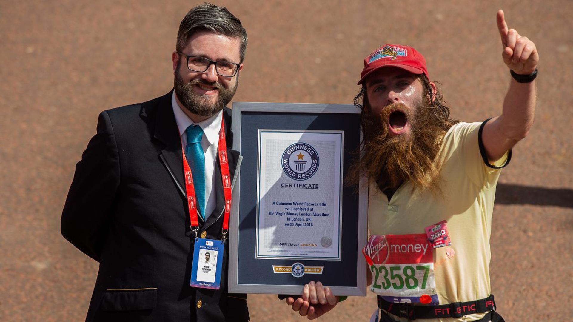 En la reciente maratón de Londres consiguió un récord Guinness