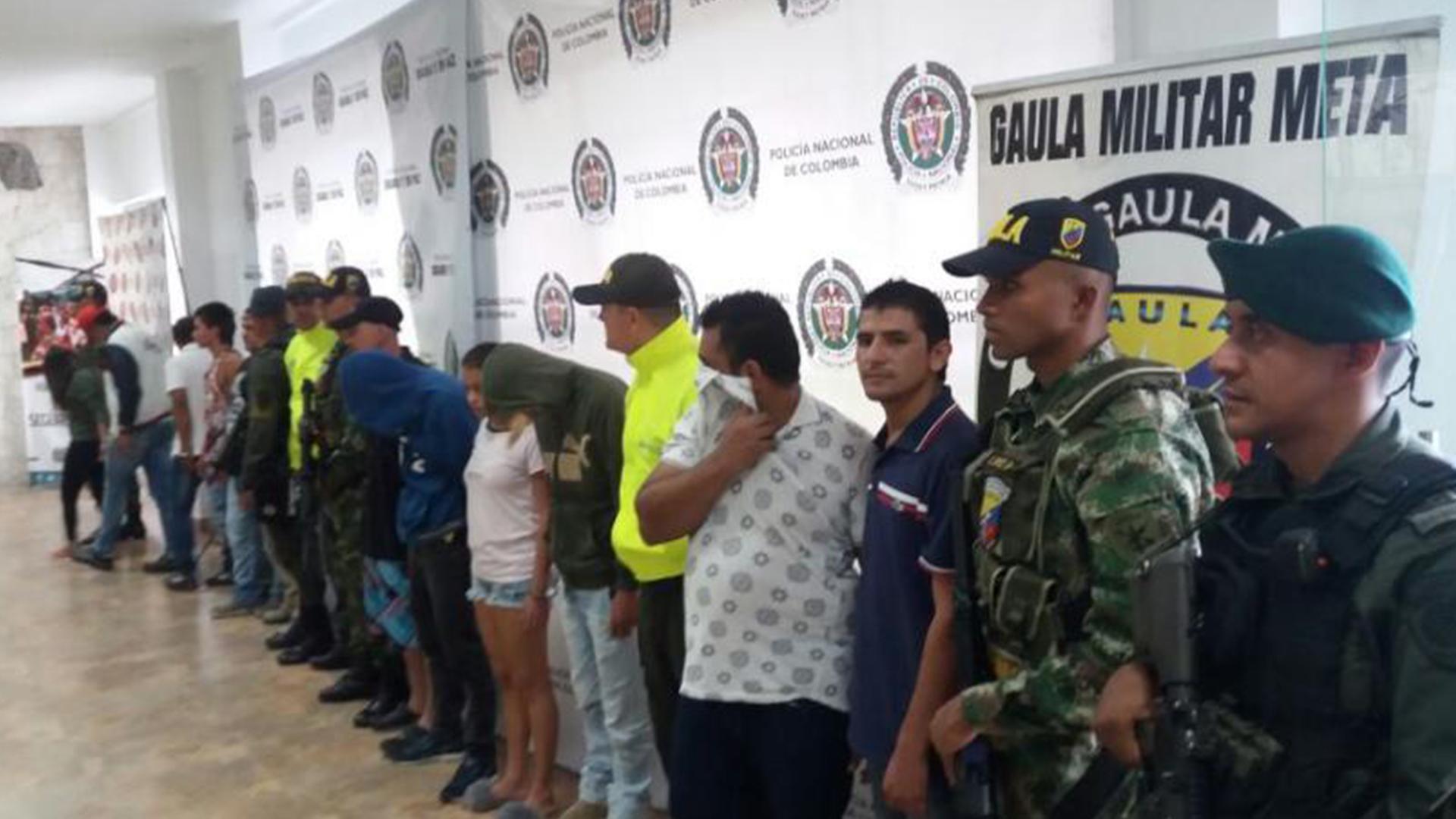 En los Llanos queda desarticulada organización del Clan del Golfo con la captura de 24 de sus integrantes.