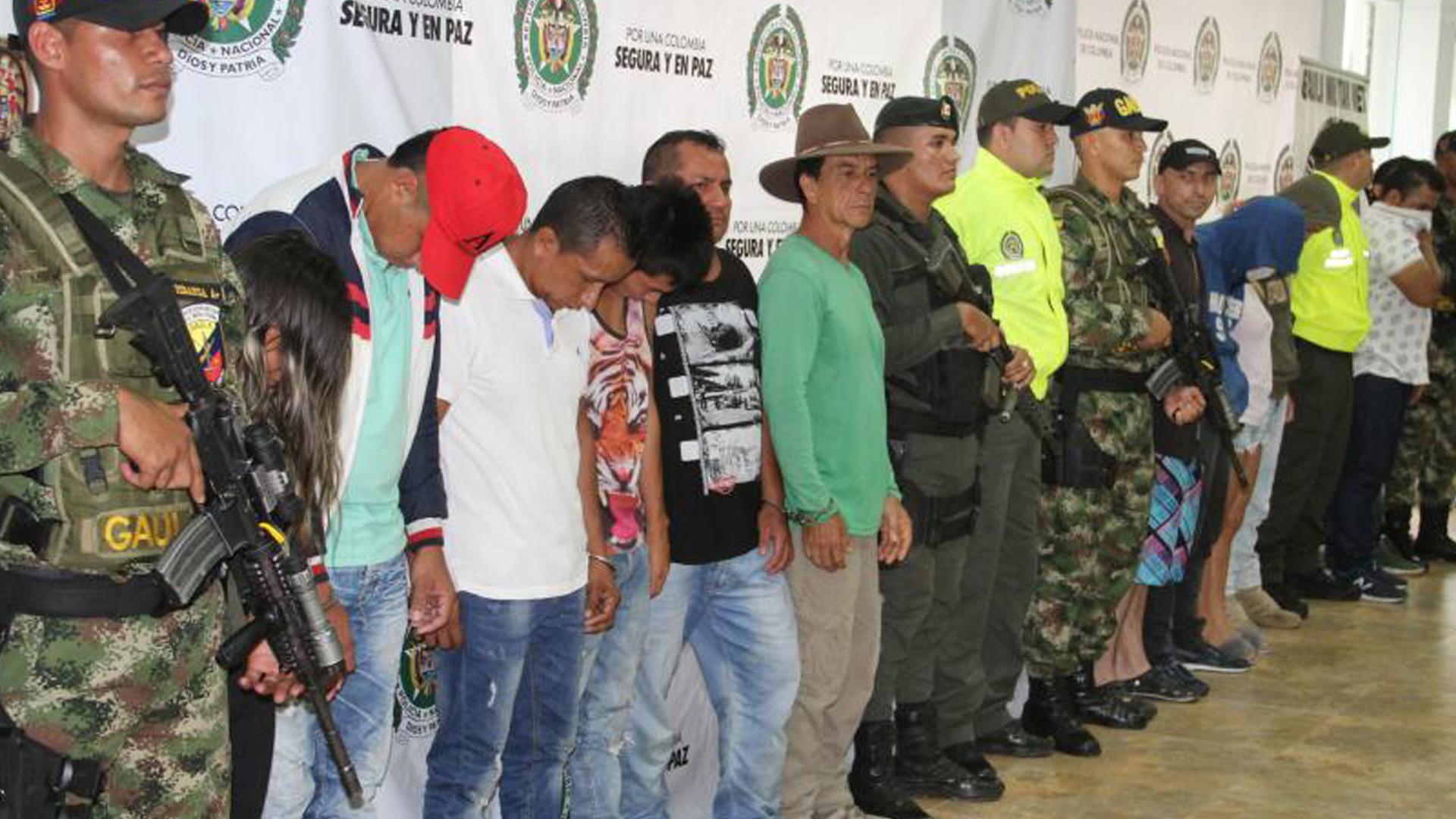 Capturados del Clan del Golfo en Villavicencio.