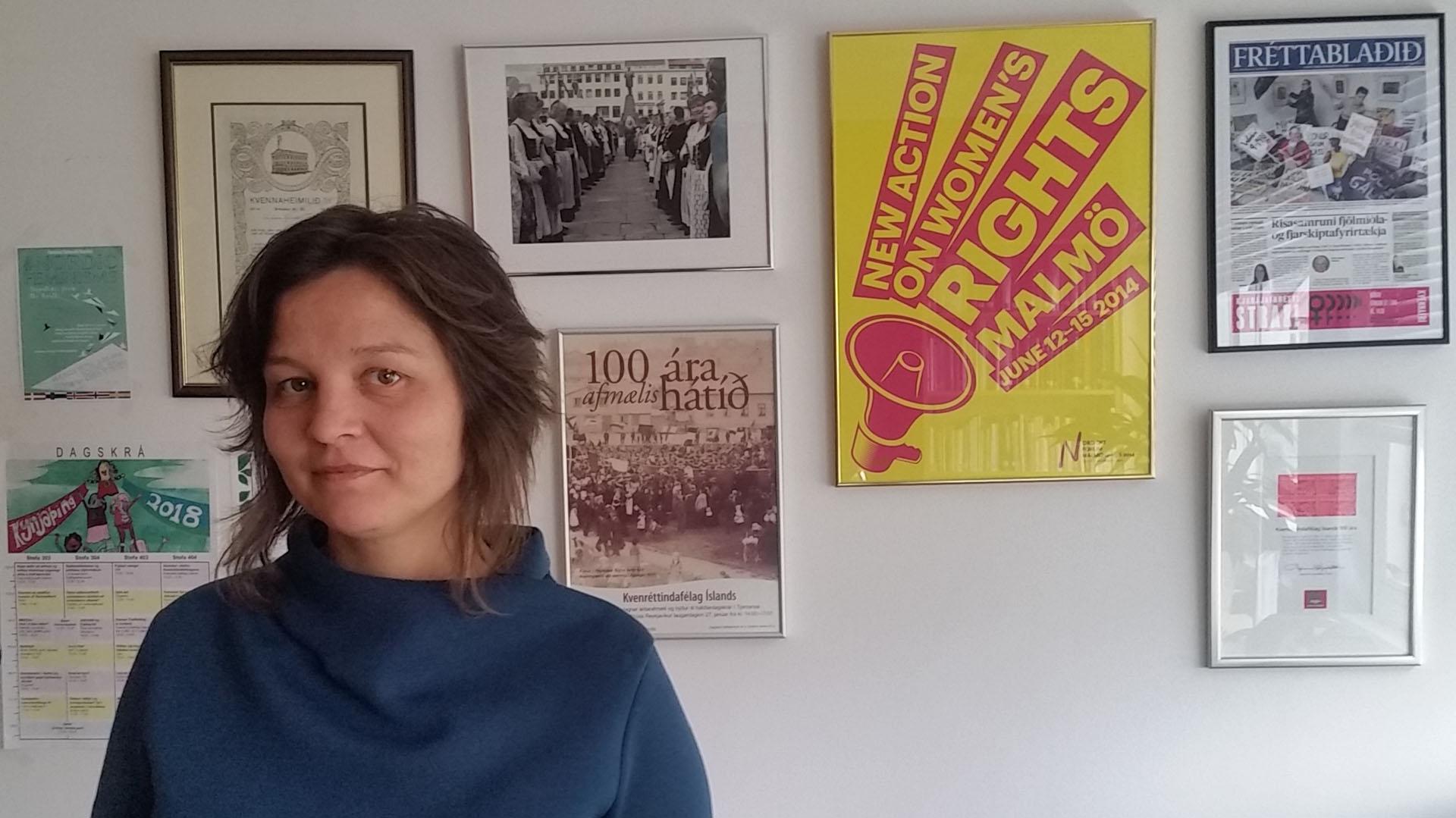 Frída Rós Valdimarsdóttir, presidenta de la Asociación Islandesa de Derechos de la Mujer