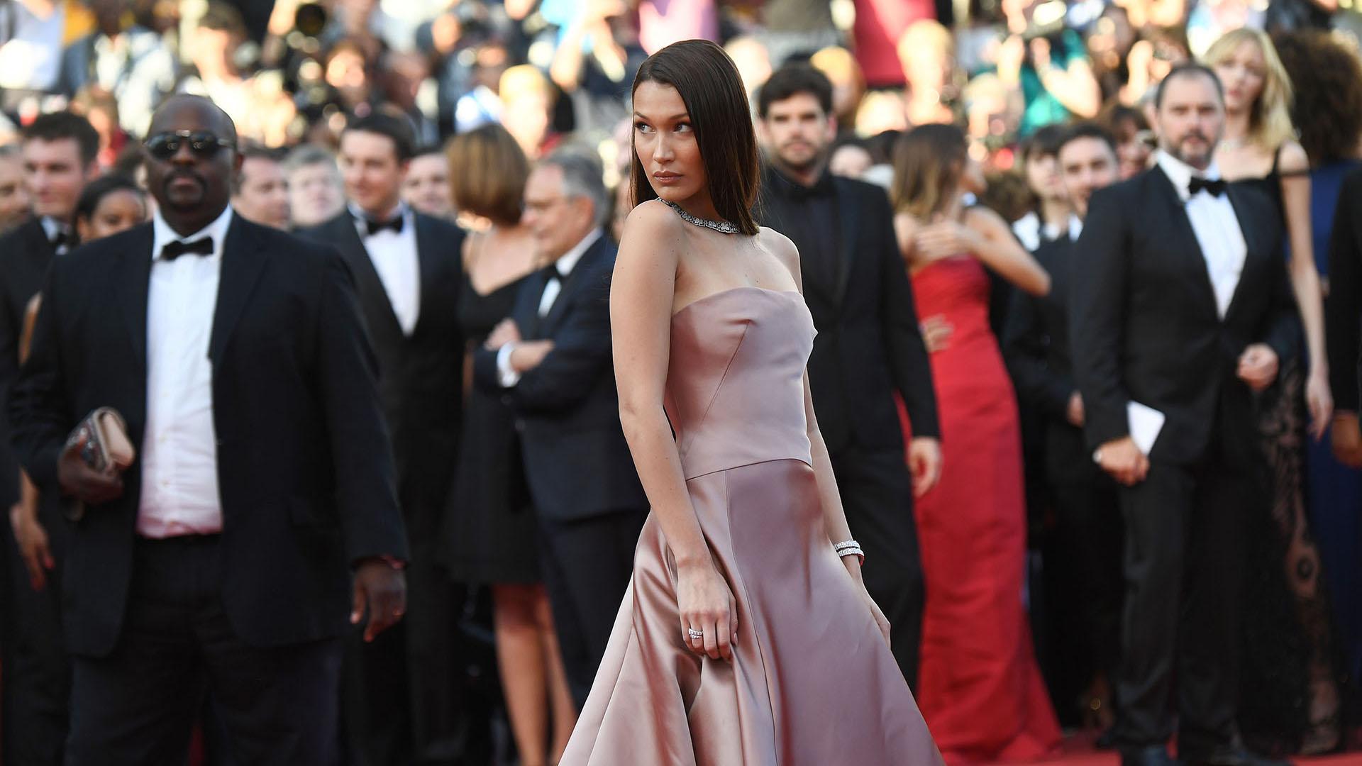 La modelo estadounidense Bella Hadid (AFP)