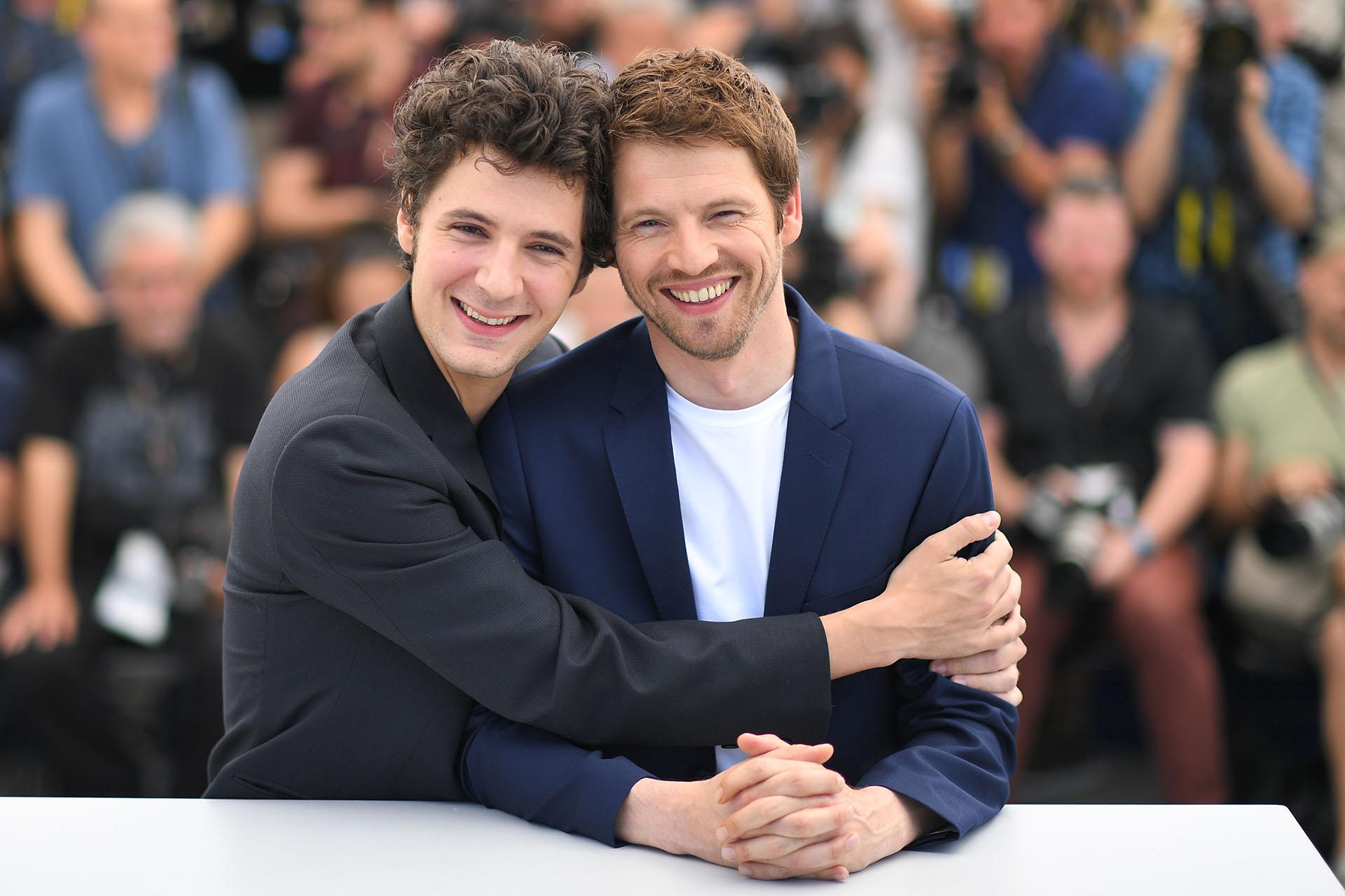 Los actores franceses Vincent Lacoste y Pierre Deladonchamps (AFP)