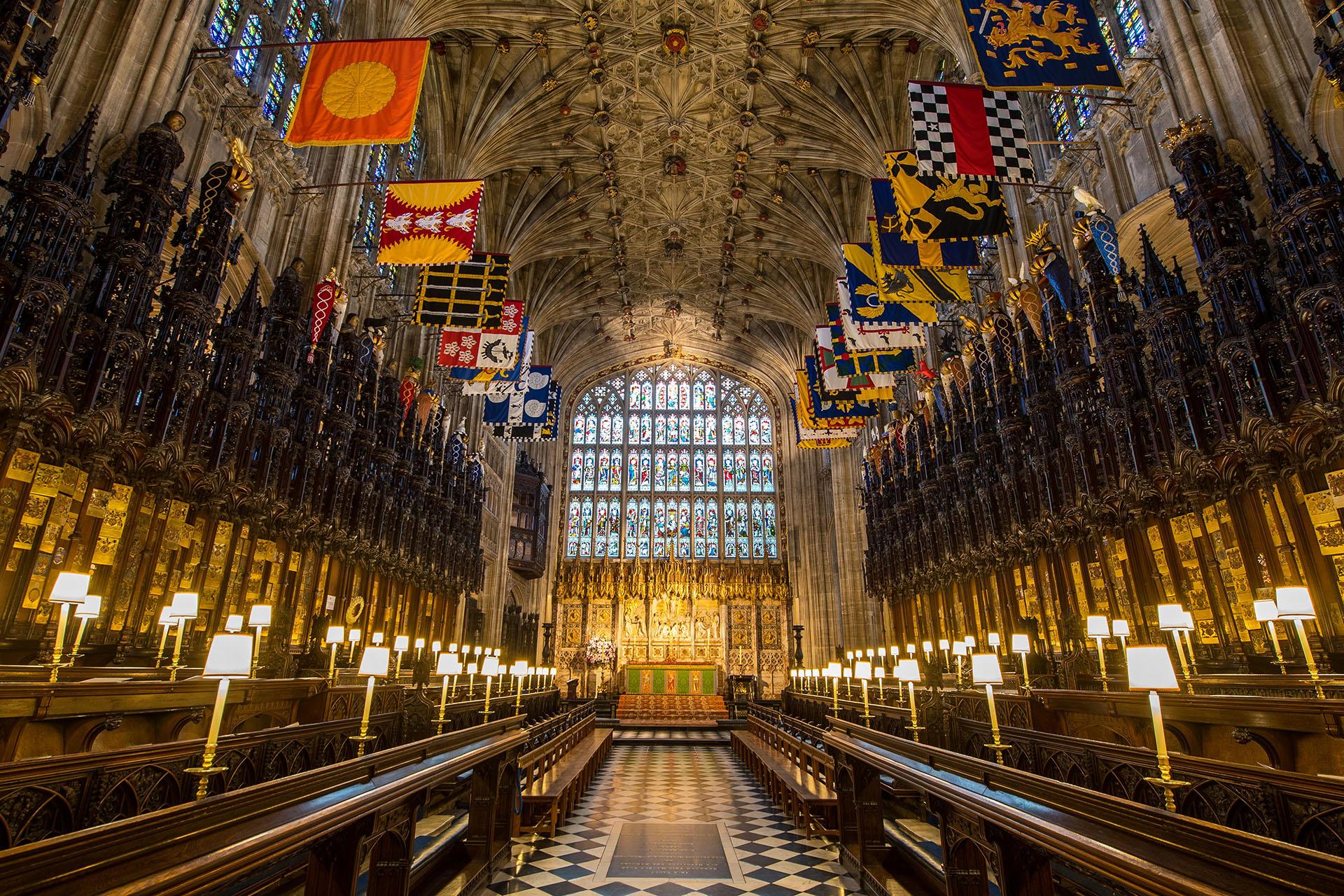 La Capilla San Jorge se ambientará especialmente para la ceremonia religosa que comenzará a las 11GMT