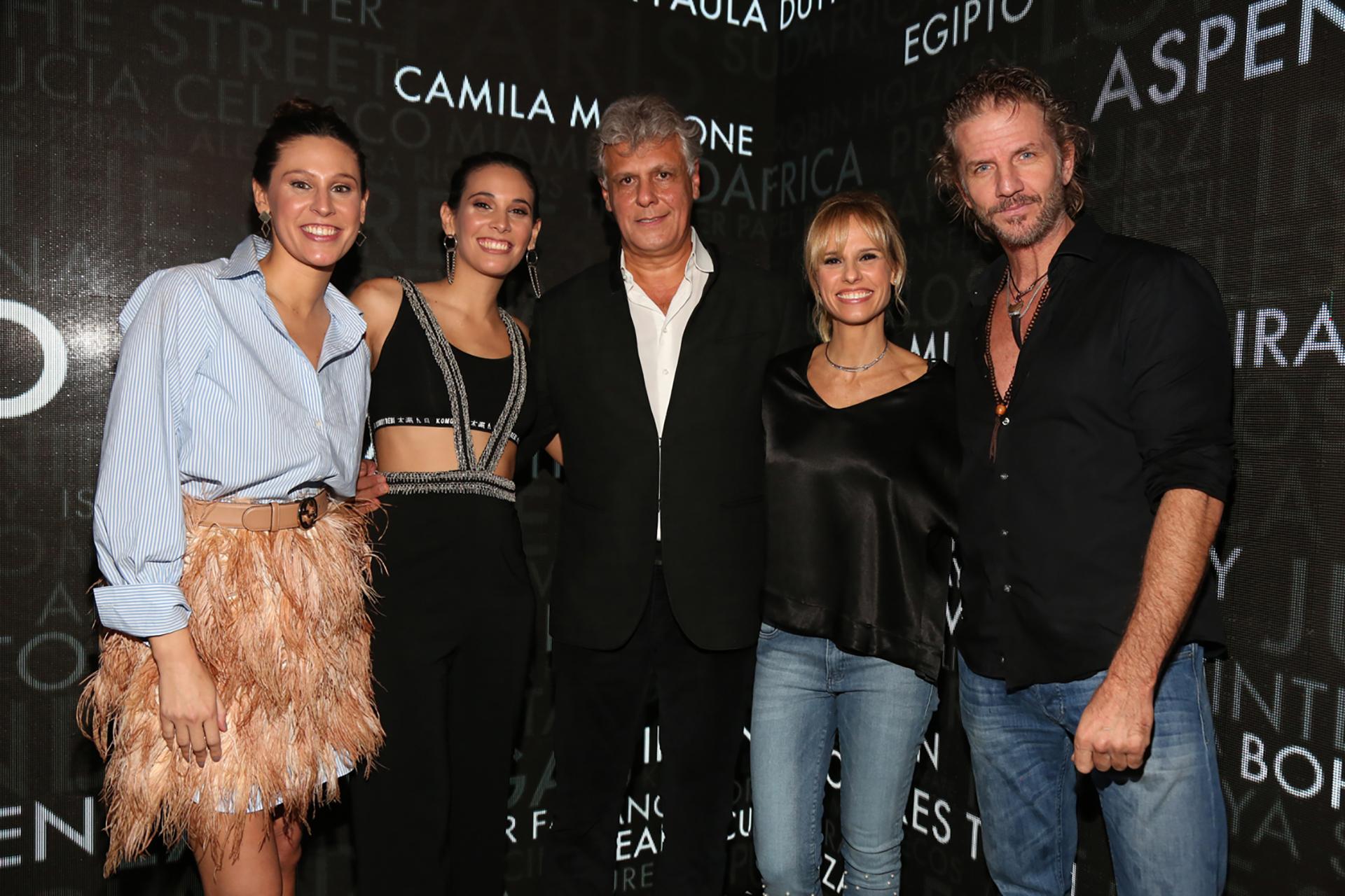 Mariana y María Victoria Elizalde, Beto Sterlicchio, Mariana Fabbiani y Facundo Arana