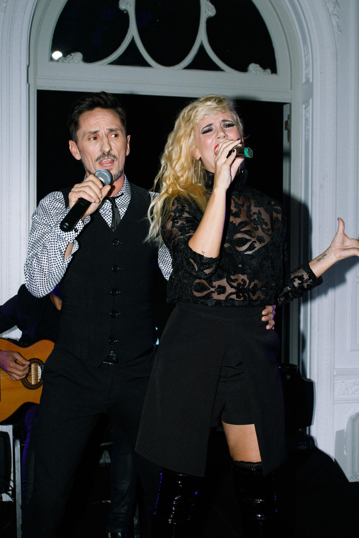 Griselda Siciliani y Carlos Casella brindaron un show en vivo para los más de 200 invitados