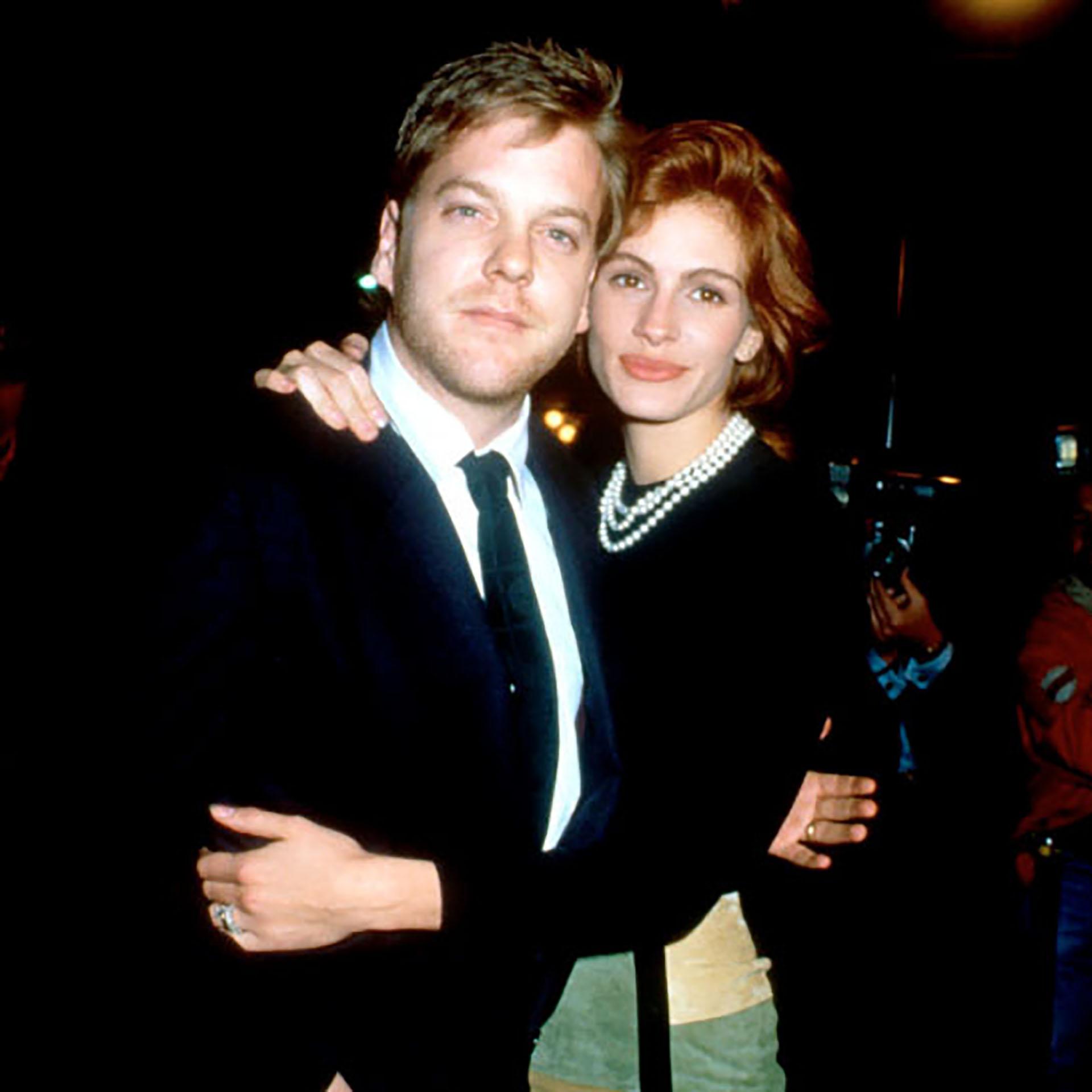 Julia Roberts y Kiefer Sutherland se conocieron durante el rodaje de la película Línea mortal