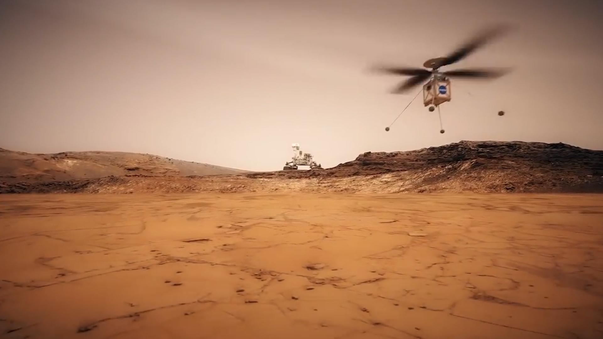 El aparato trabajará con el rover Mars 2020 en tierra