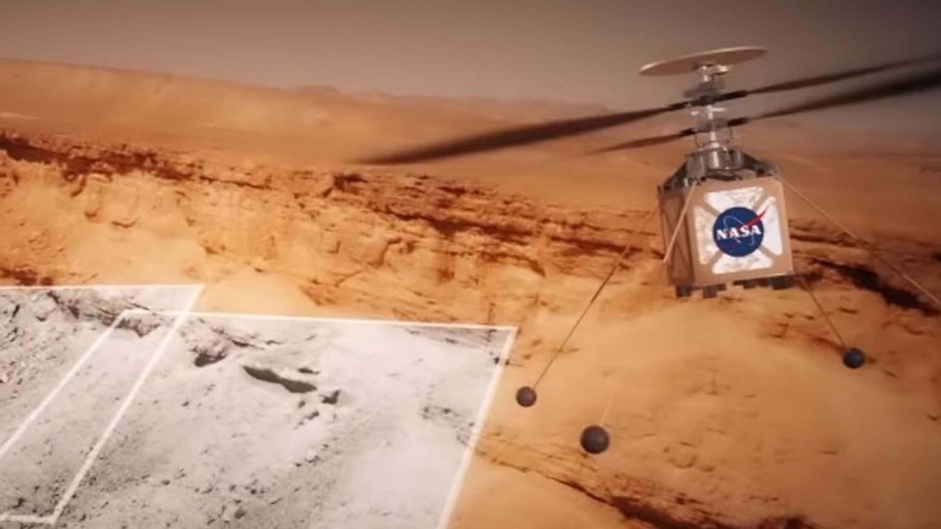 """""""The Mars Helicopter"""", podrá hacer estudios más amplios de la superficie marciana"""