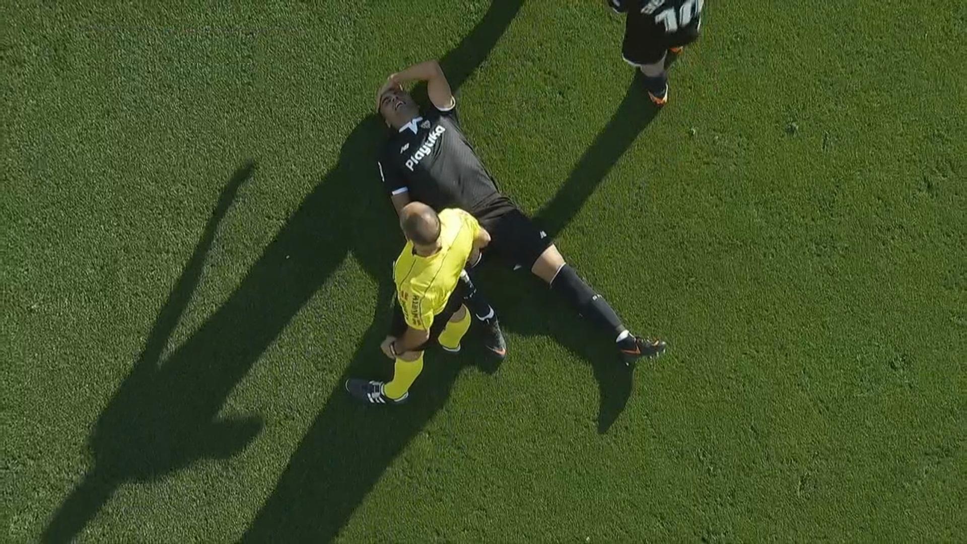 Mercado sufrió una lesión en la espalda