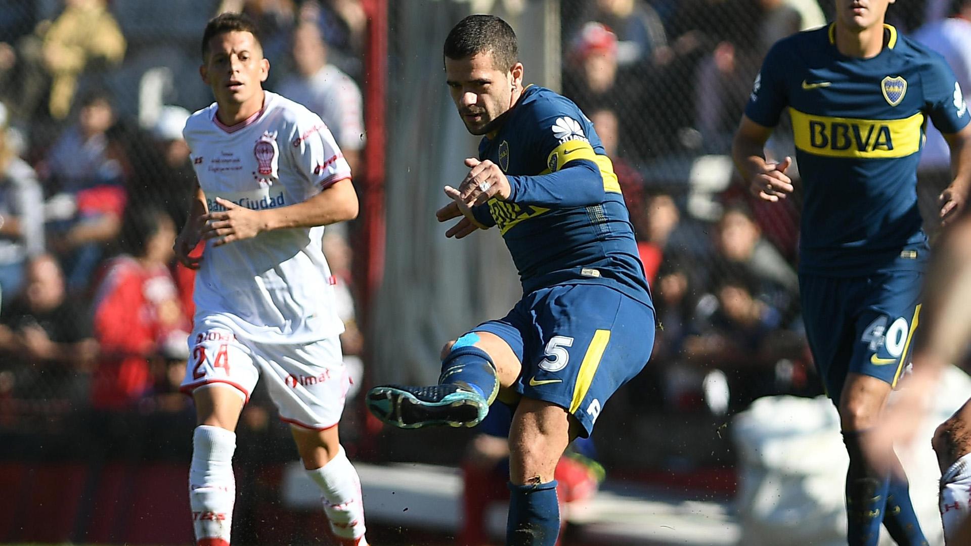 Gago volvió a jugar después de siete meses (Foto: Télam)