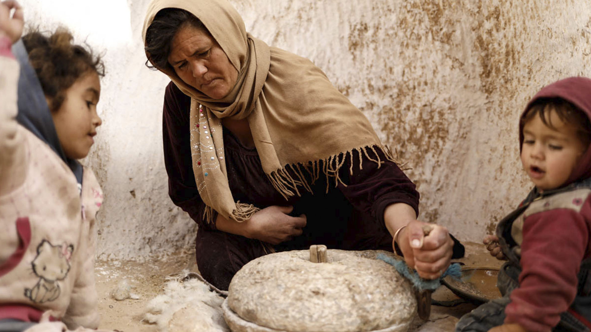 Un molino de trigo para fabricar harina