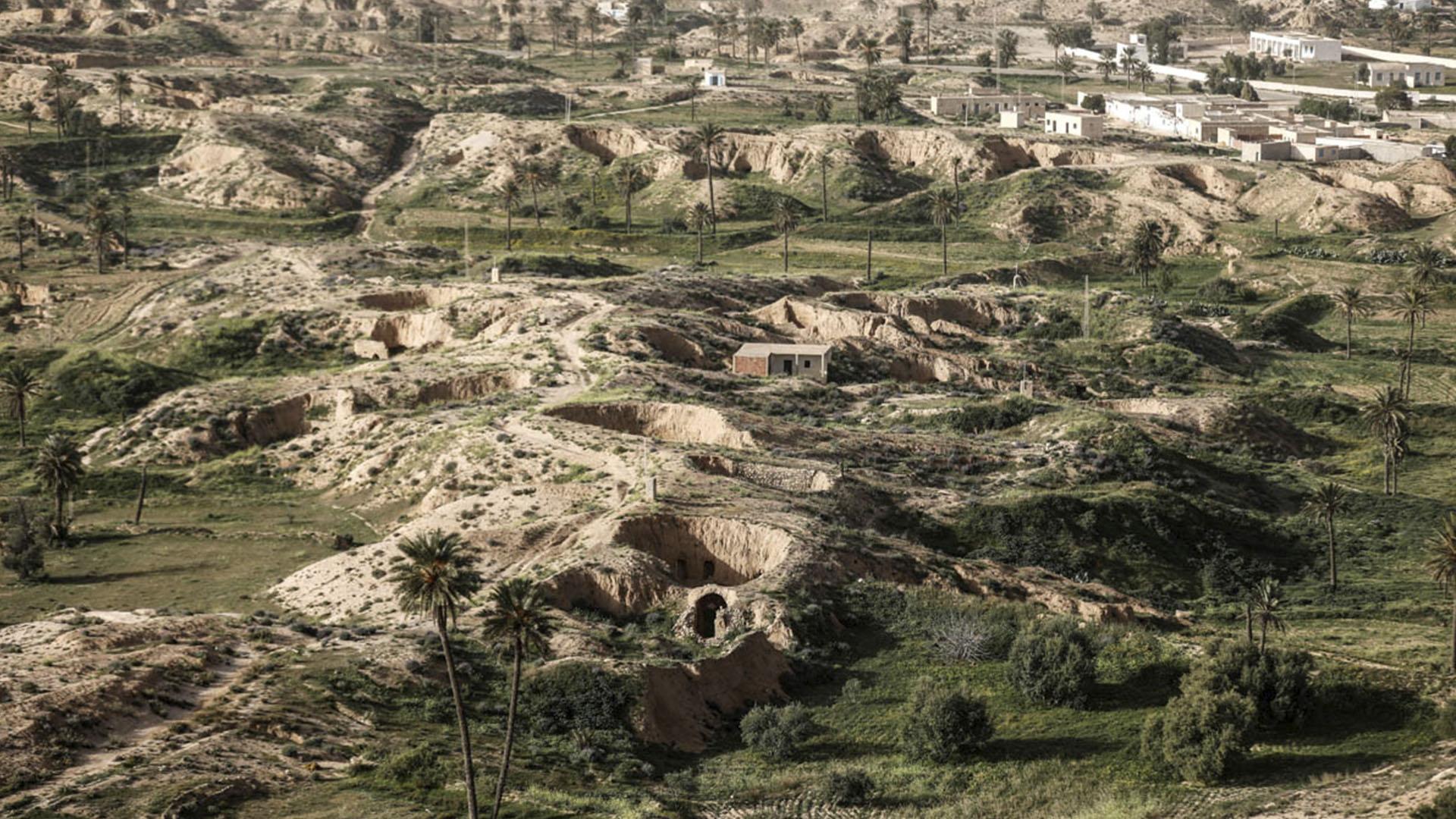 Las casas subterráneas en Matmata, donde personas han vivido desde hace siglos