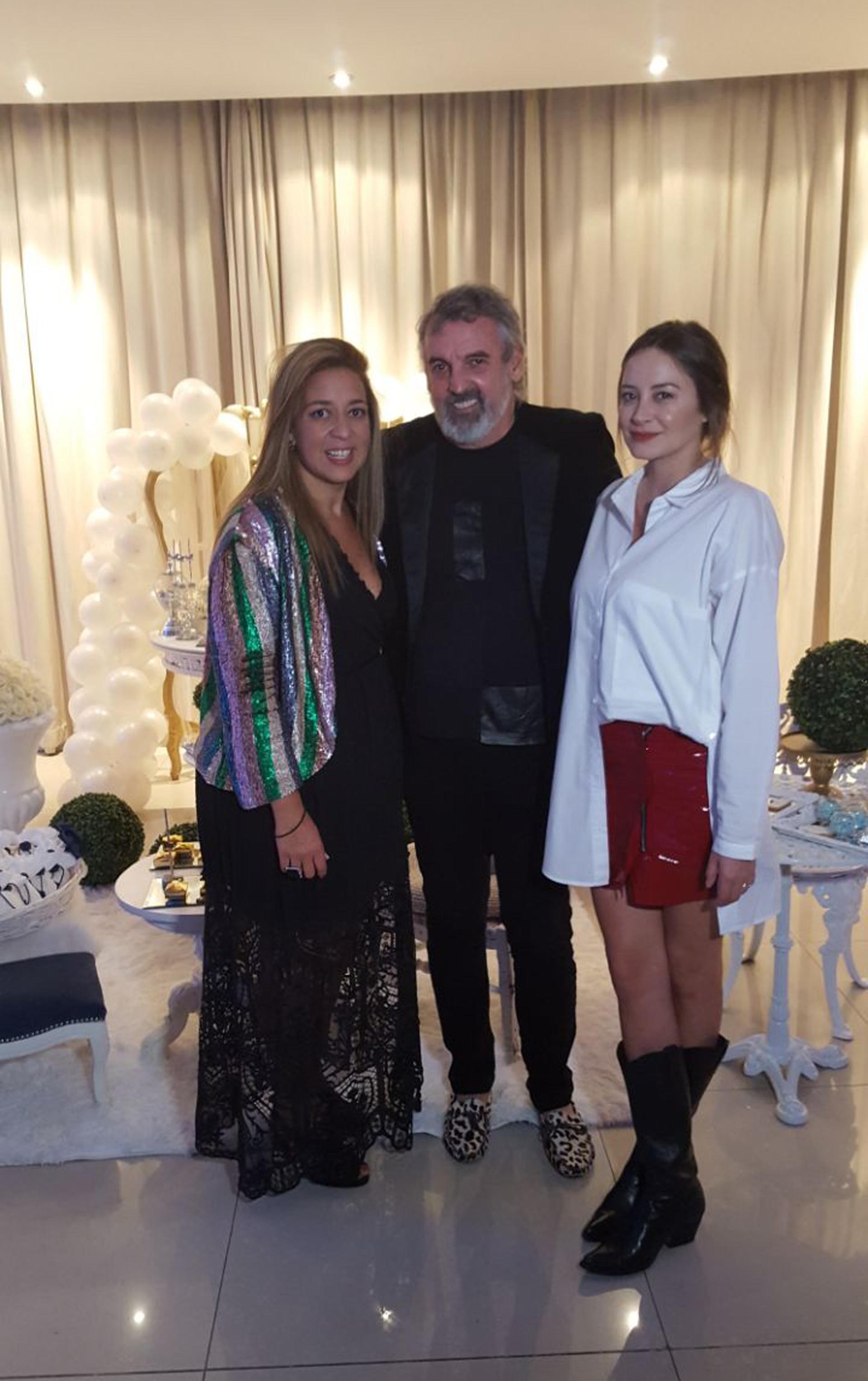Benito Fernández, la modelo Meluna Gadano y María Laura Gregoriadis