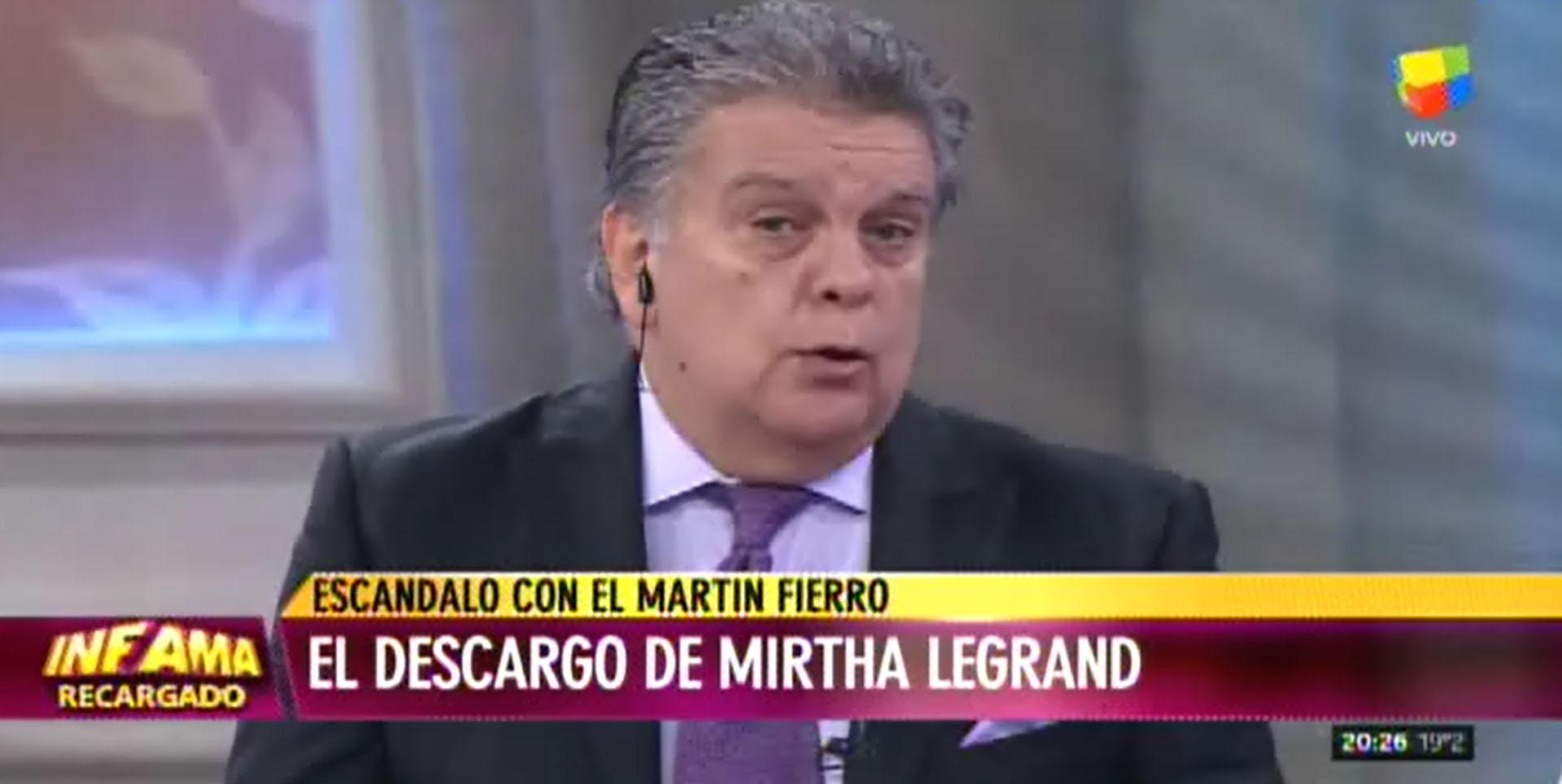 Luis Ventura explicó por qué difundió su conversación privada con Mirtha