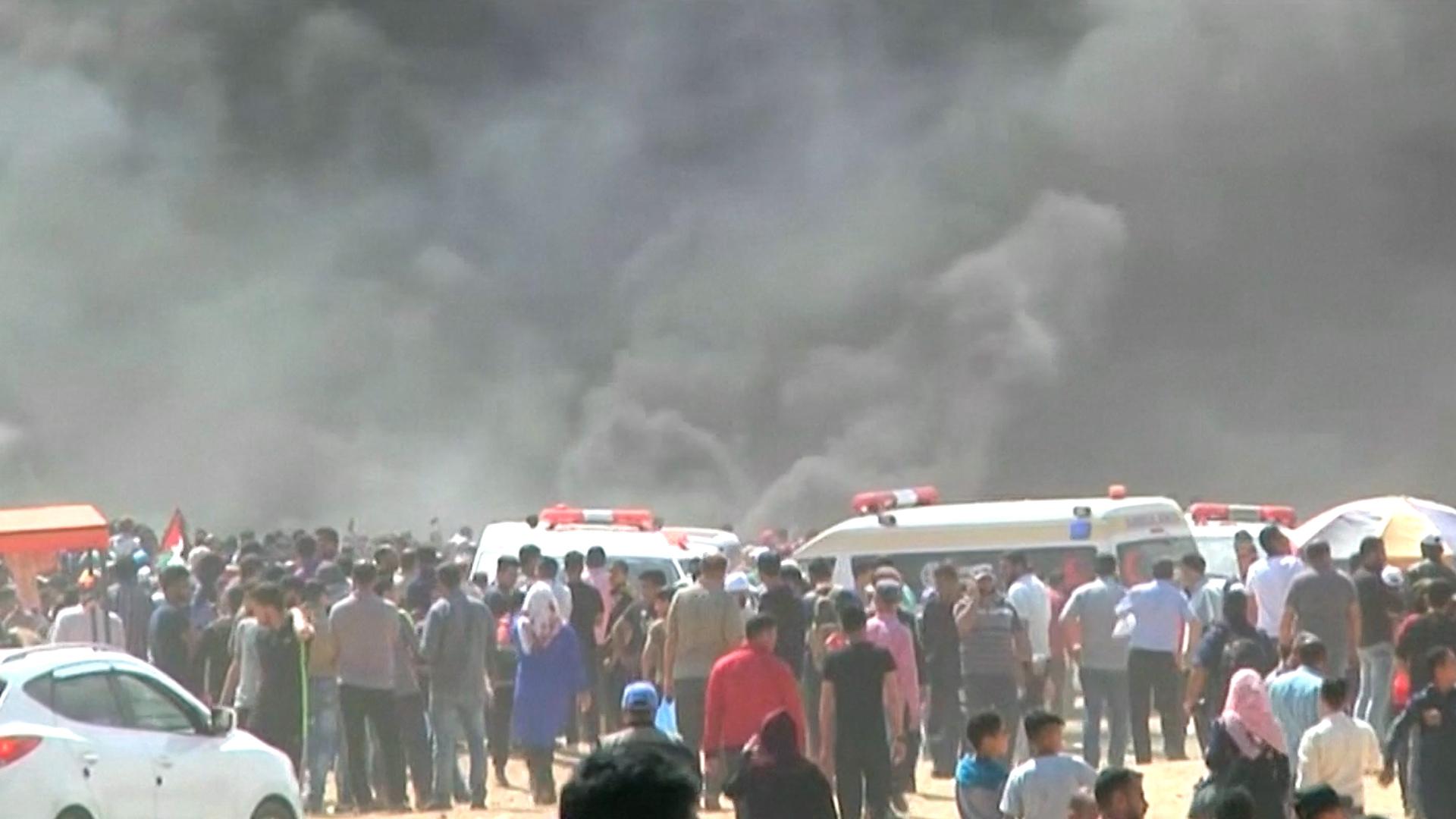 Choques violentos en Gaza en el día en que EEUU inaugura su embajada en Jerusalén