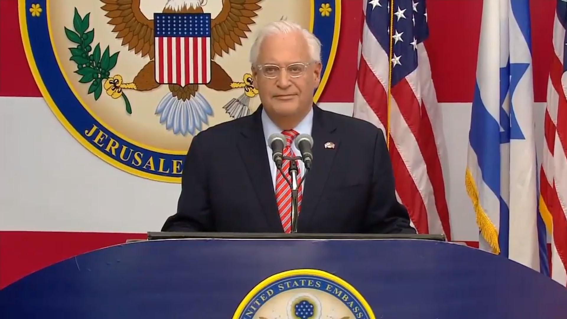 El embajador de Estados Unidos ante Israel, David Friedman, fue el maestro de ceremonia