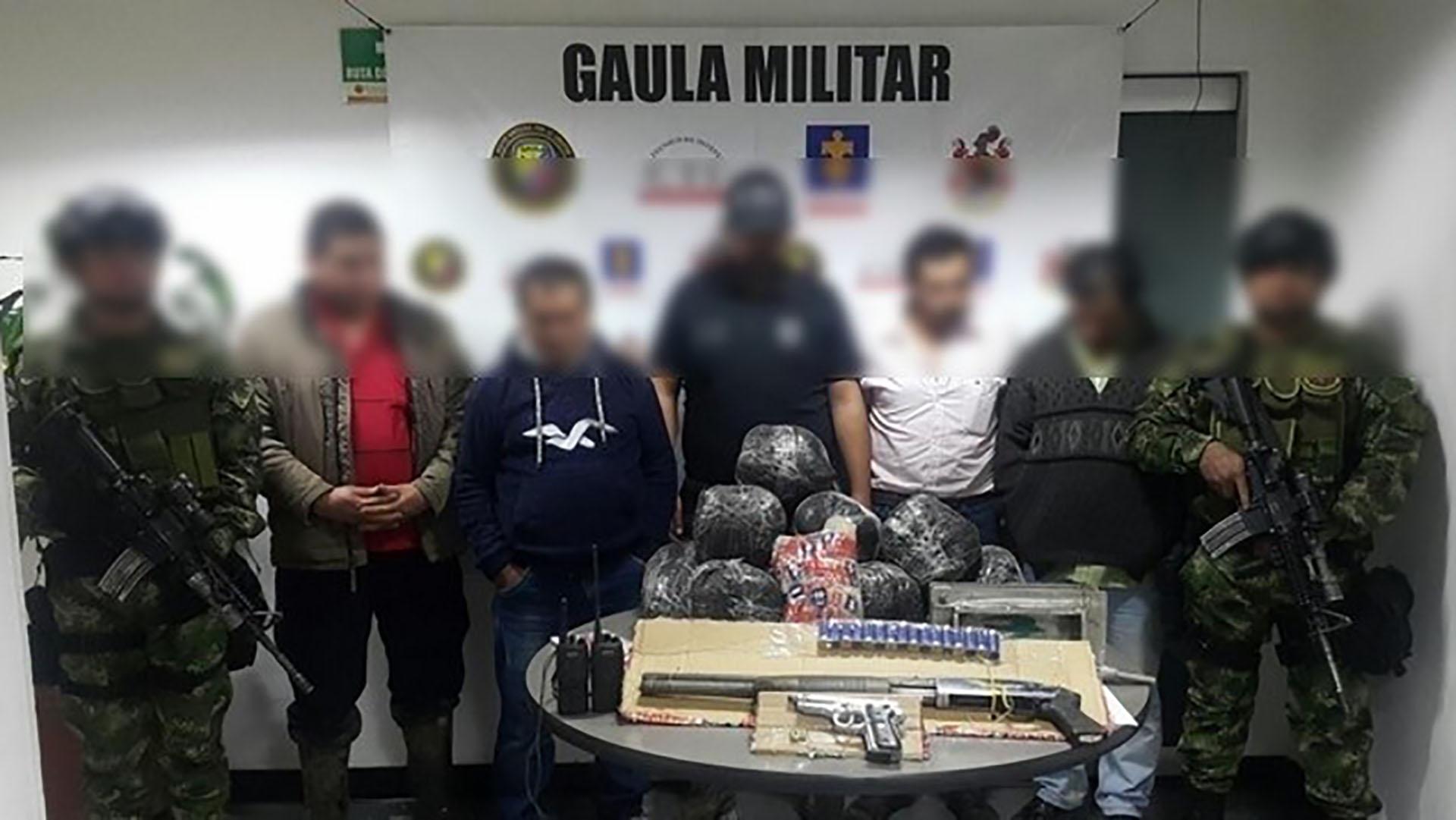 Capturados en el operativo del Gaula Militar donde descubrieron una nueva modalidad del narcotráfico cerca de las ciudades.
