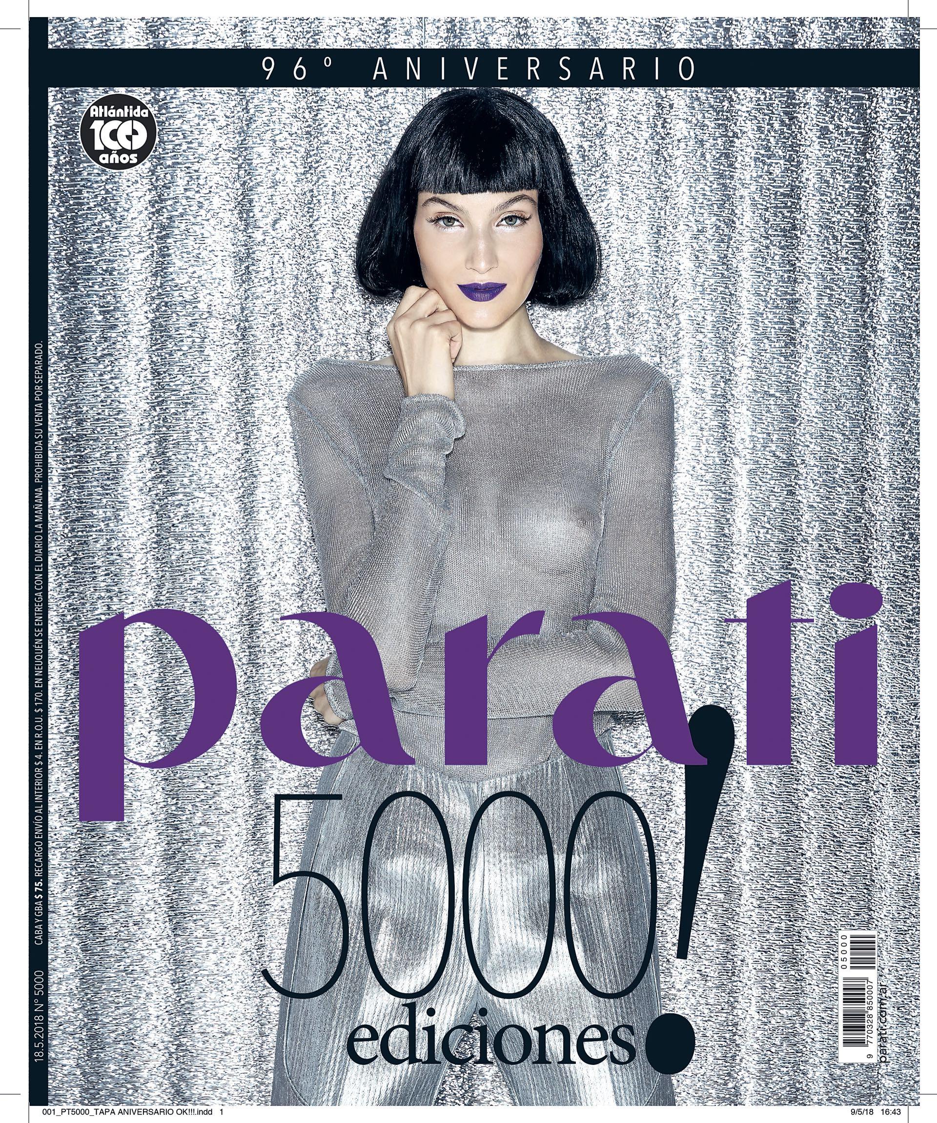 La portada de las 5000 ediciones de Para Ti que estará en la calle desde el jueves 17 de mayo.