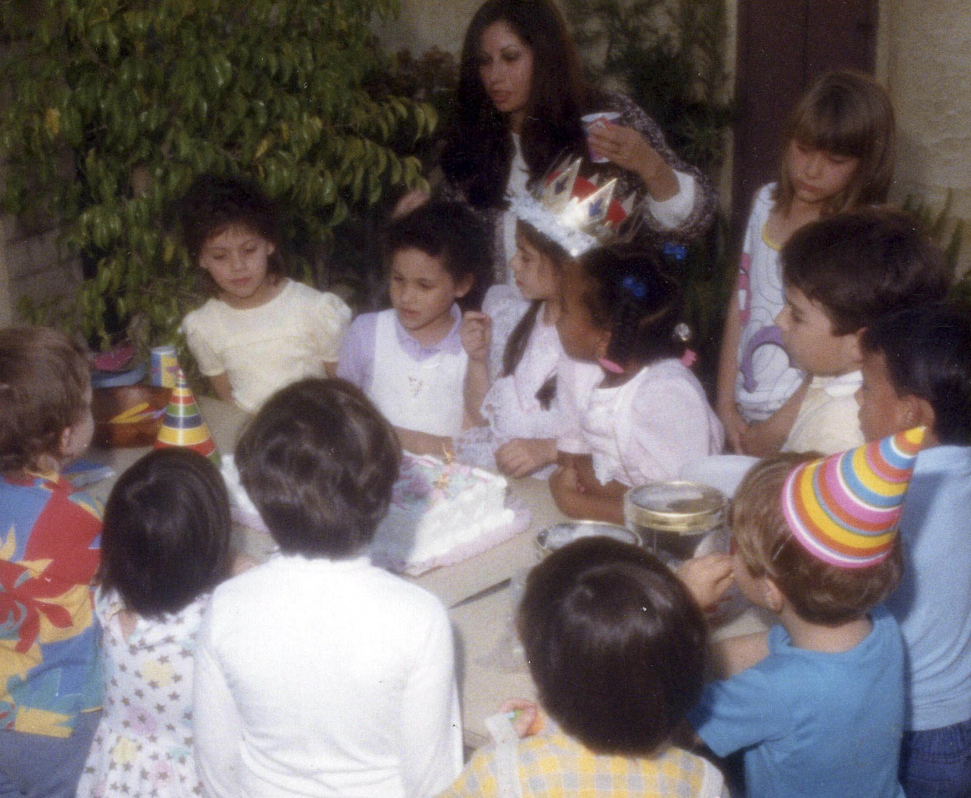 Meghan Markle durante su festejo de cumpleaños número 6