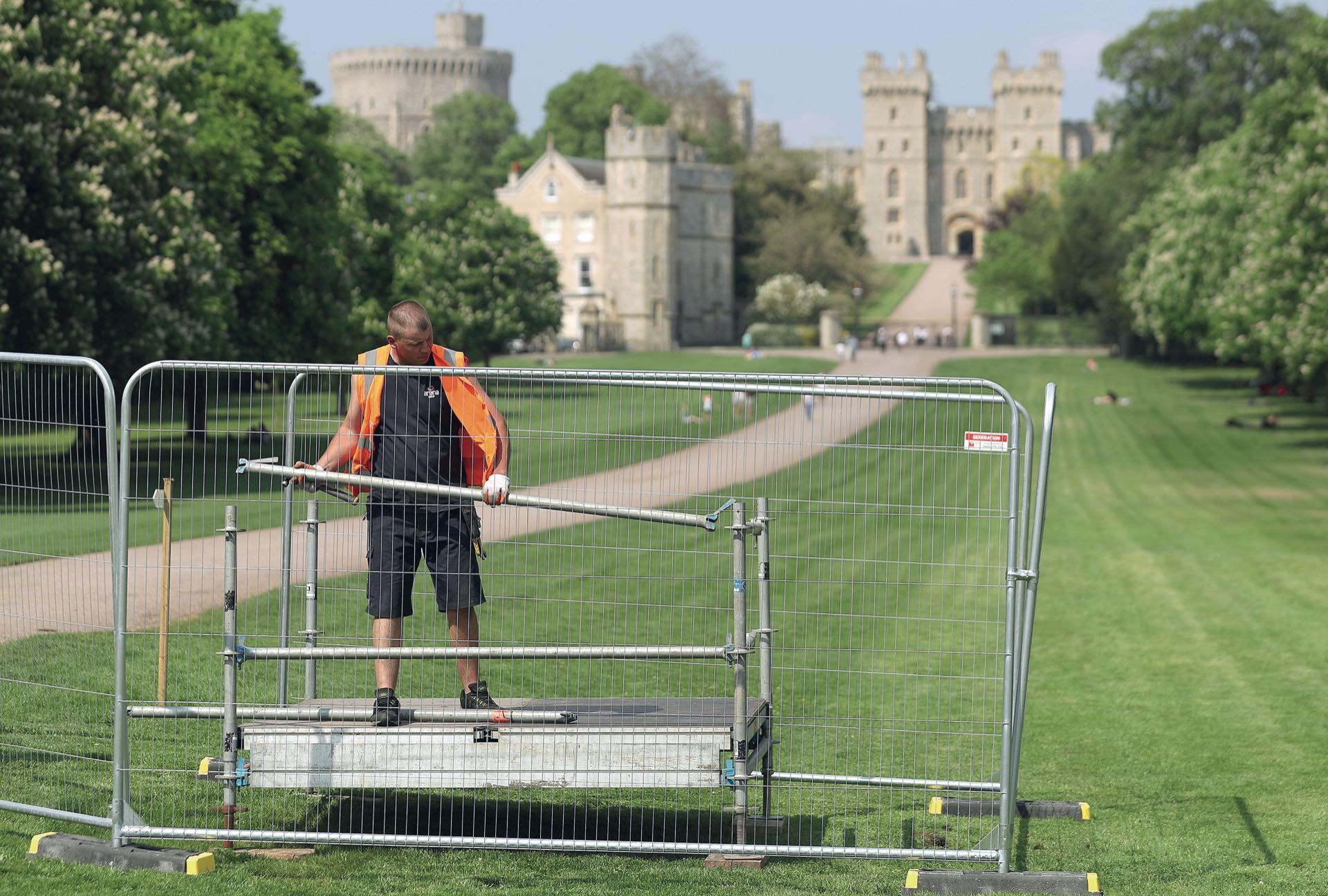 Los preparativos en el castillo de Windsor