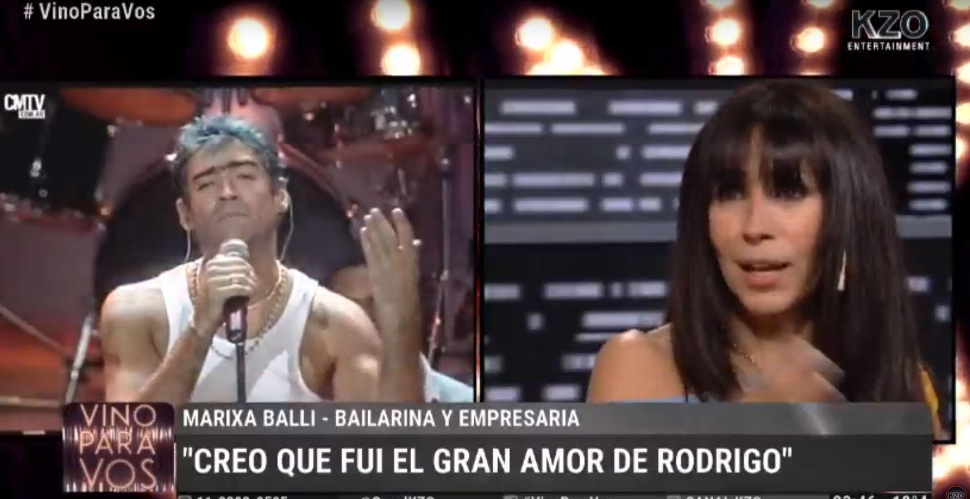 La bailarina durante la entrevista con Tomás Dente