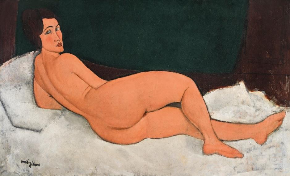 """""""Nu Couche(sur le cote gauche)"""" de Amedeo Modigliani"""