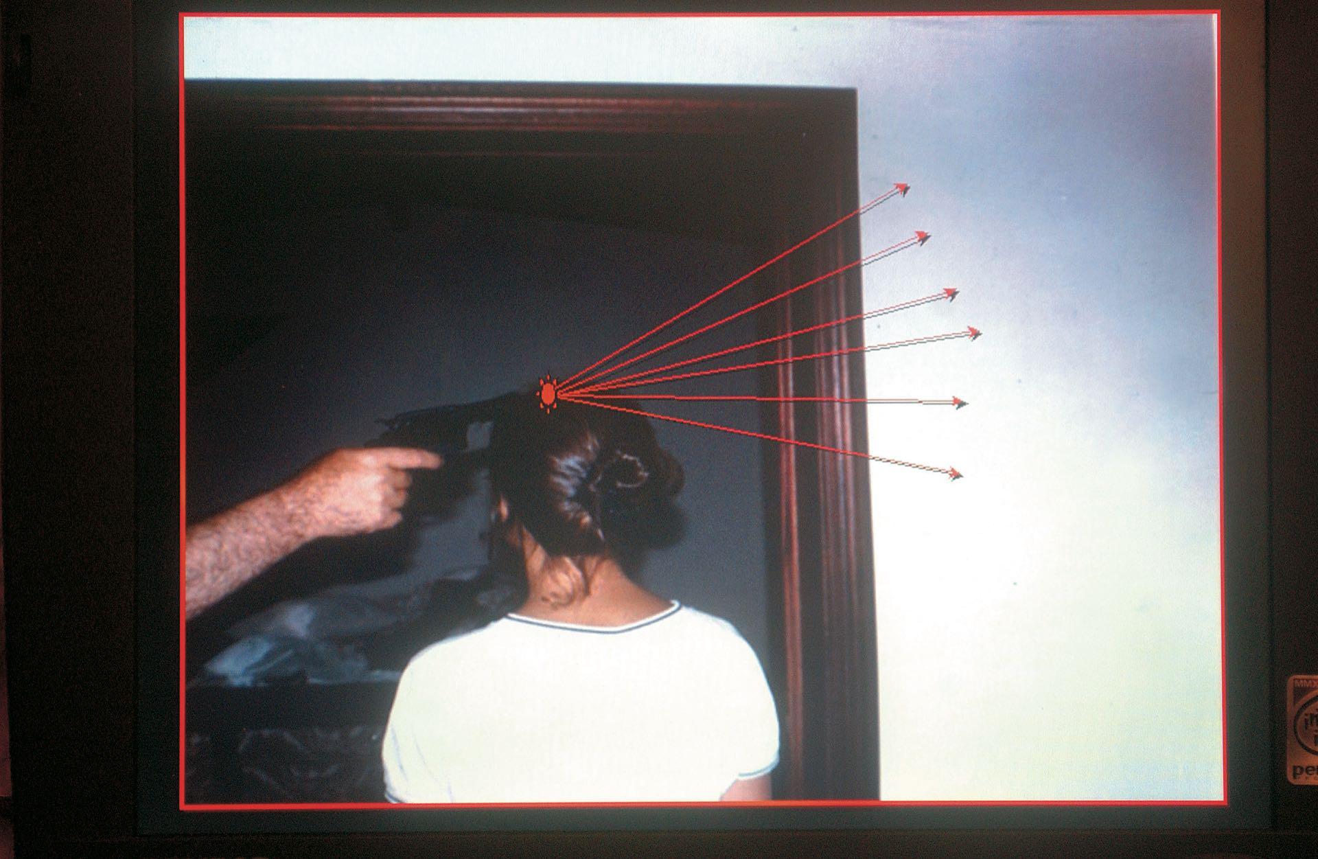 La imagen muestra cómo le dispararon a María Marta