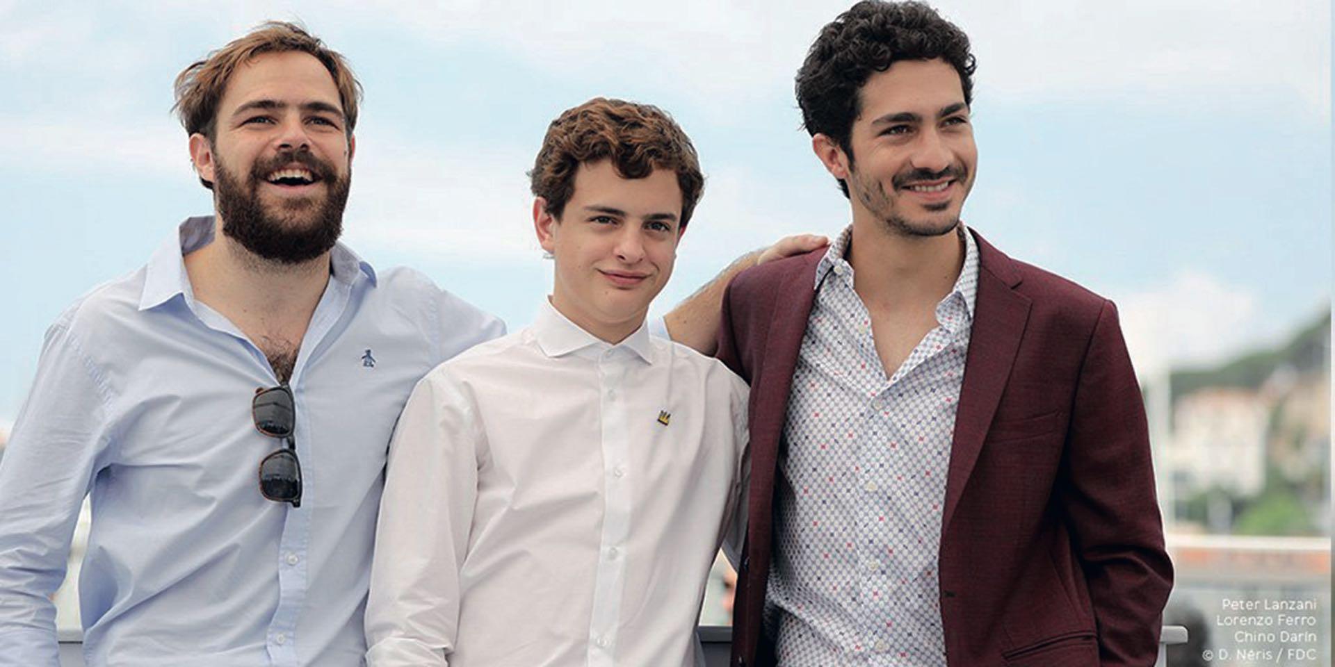 Los más jóvenes, inseparables: Lanzani, Ferro y el Chino.
