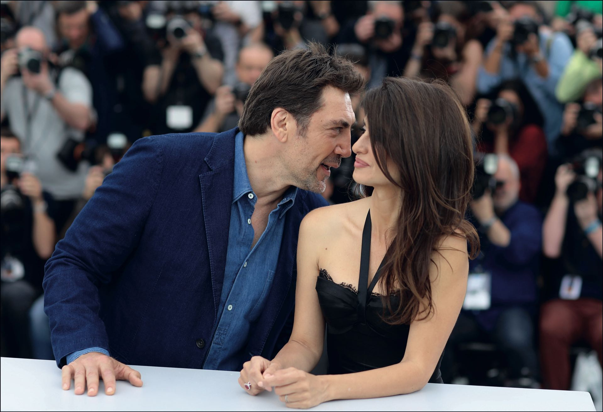 Javier Bardem y Penélope Cruz en el photocall de Everybody Knows.