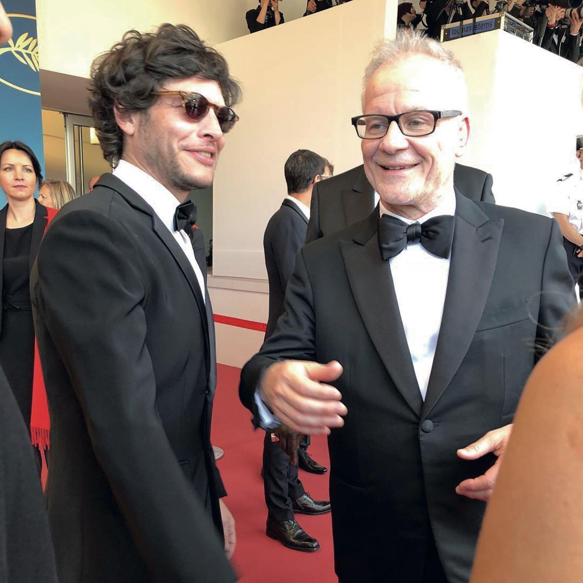 Luis junto al director artístico del festival, Thierry Frémaux.