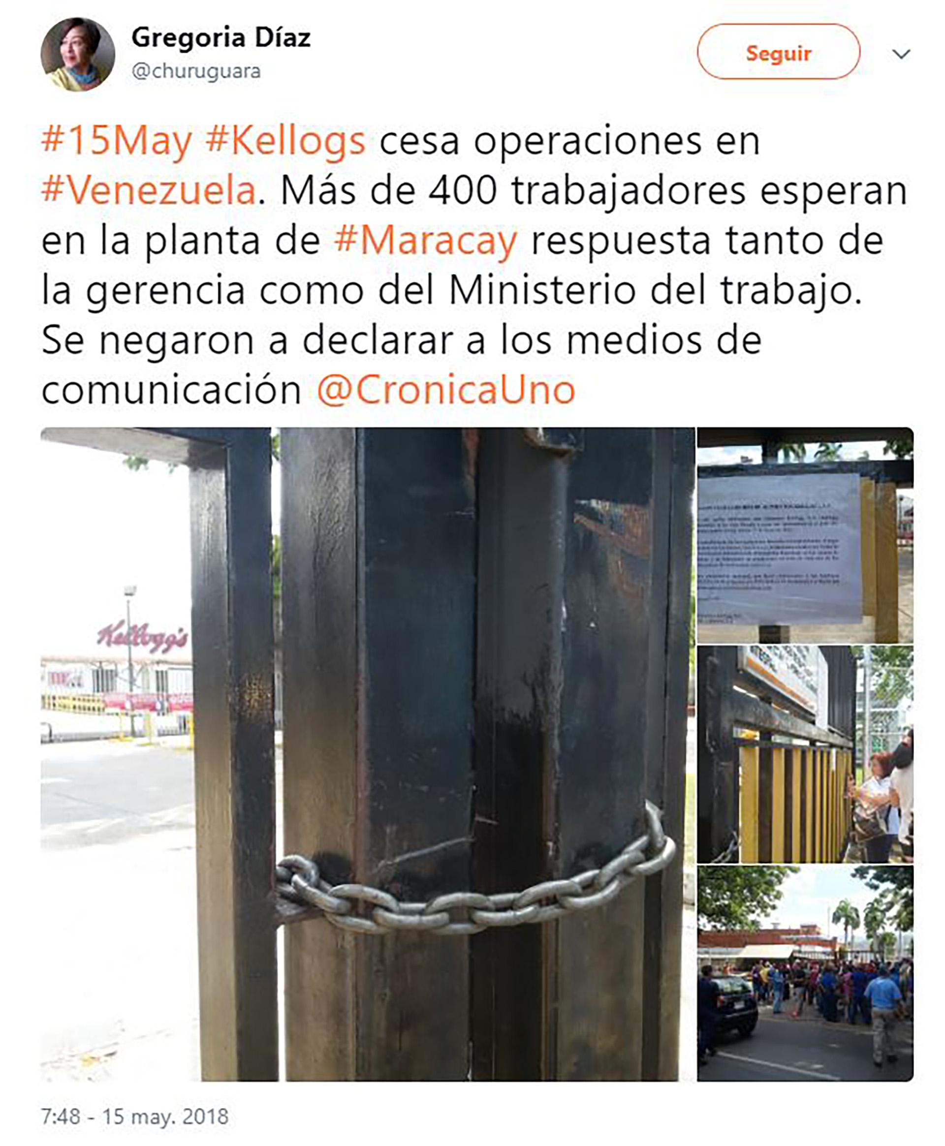 Kellogs_Cierre de la Fabrica en Venezuela