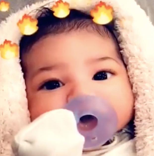 Así presentó Kylie Jenner a su hija, Stormi Webster en Snapchat (Snapchat Kylie Jenner)