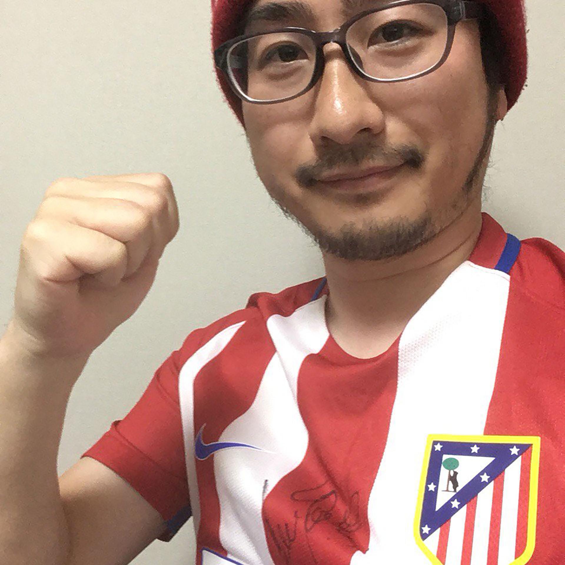 Tasuku es fanático del Atlético Madrid
