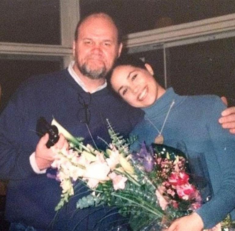 Meghan Markle con su padre Thomas, mucho antes de que comenzaran los conflictos familiares