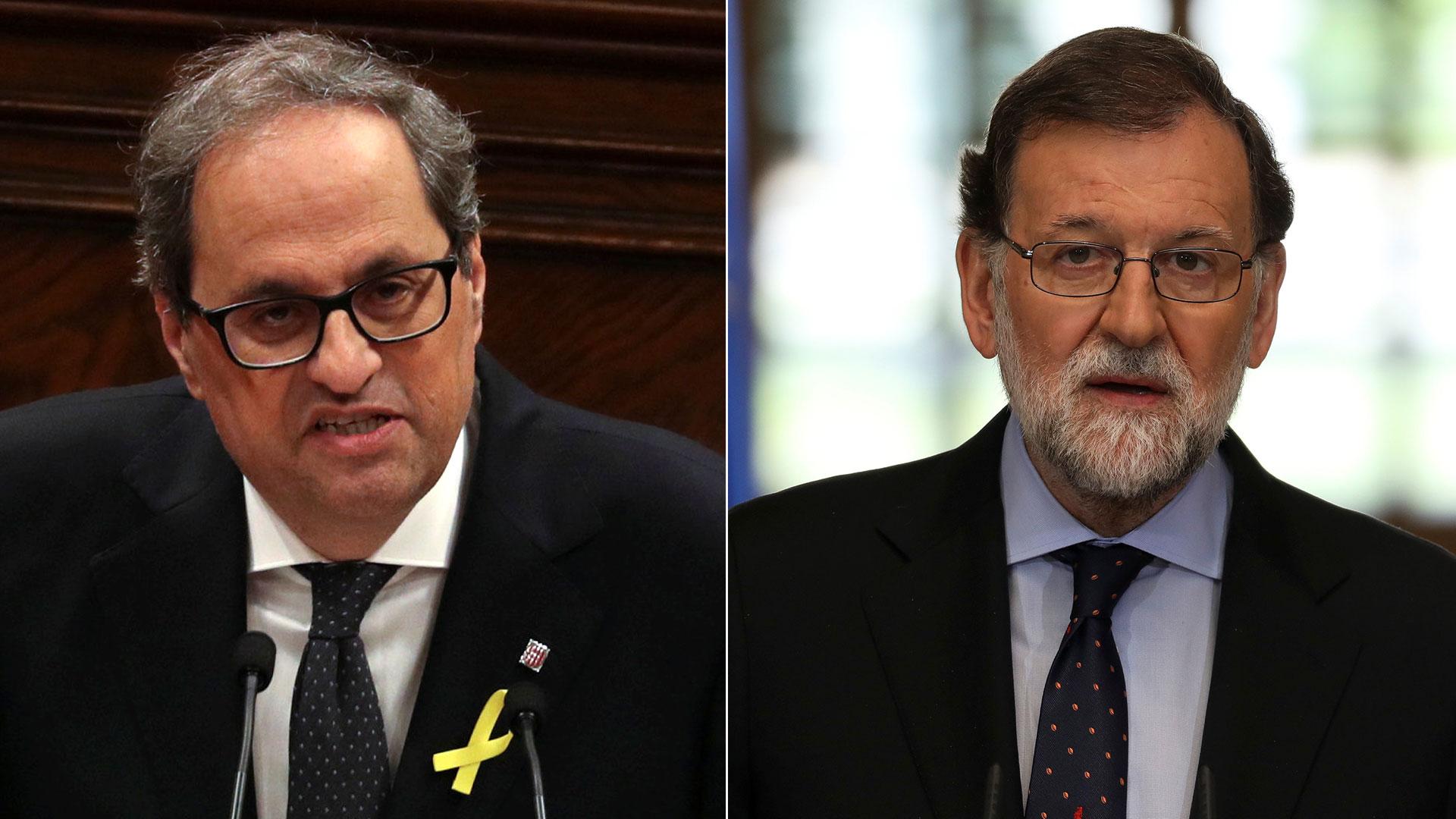 Quim Torra y Mariano Rajoy mantendrán una reunión