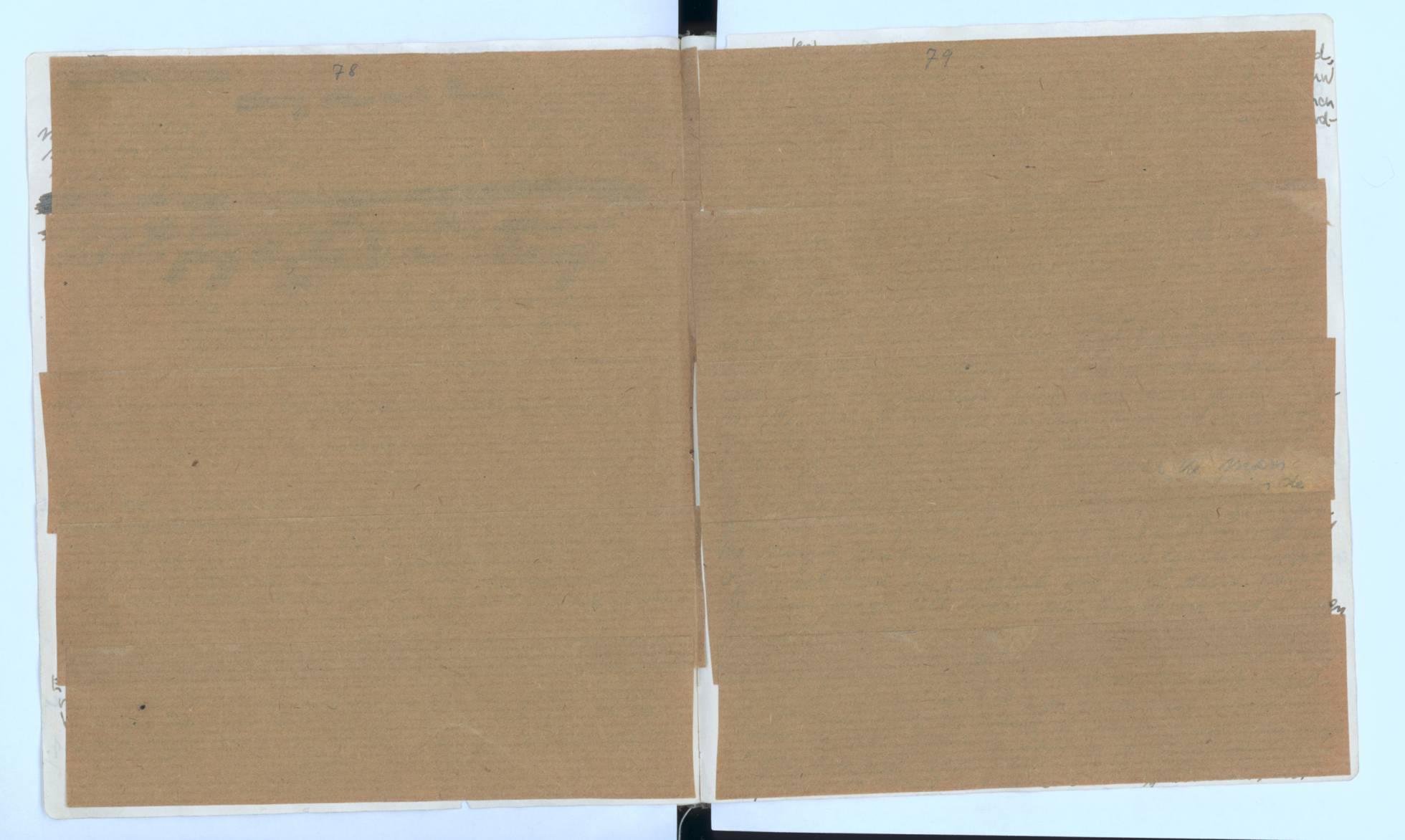Las dos páginas tapadas con papel de estraza (Foto: Fundación Anna Frank)