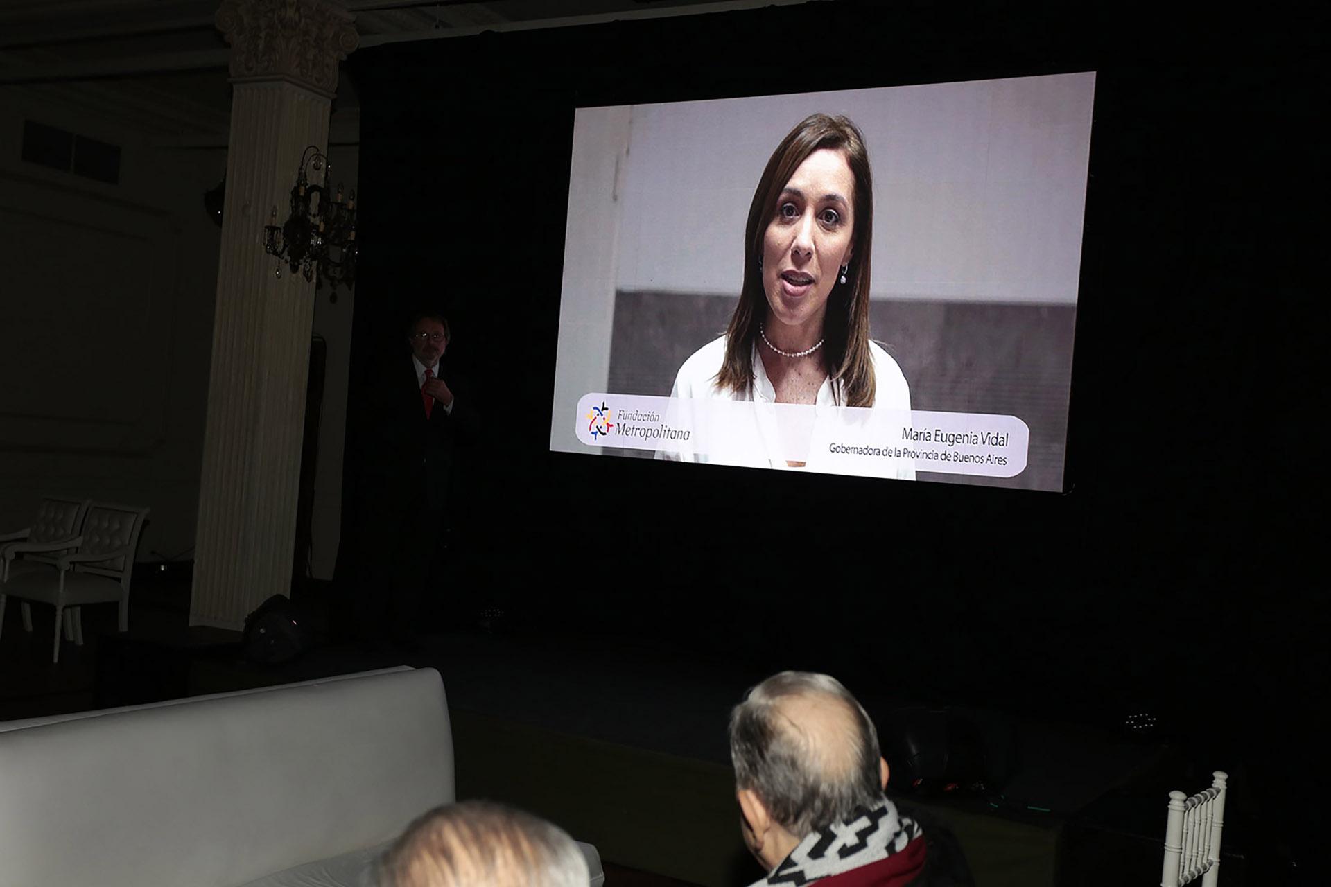 El mensaje de María Eugenia Vidal, gobernadora de la provincia de Buenos Aires