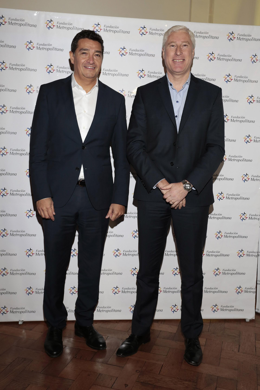 Bruno Screnci Silva, ministro de Gobierno porteño, y Gustavo Coria, presidente del CEAMSE