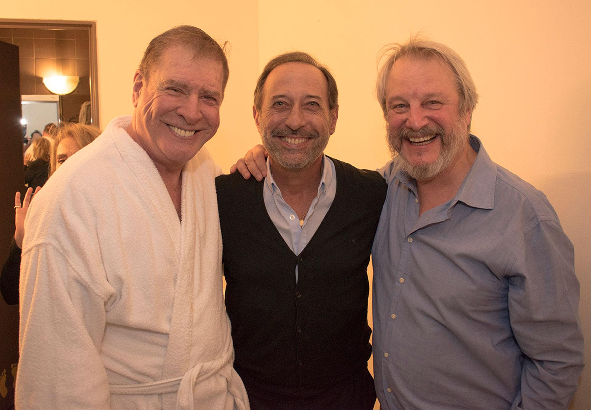Jorge Marrale, Guillermo Francella y Arturo Puig