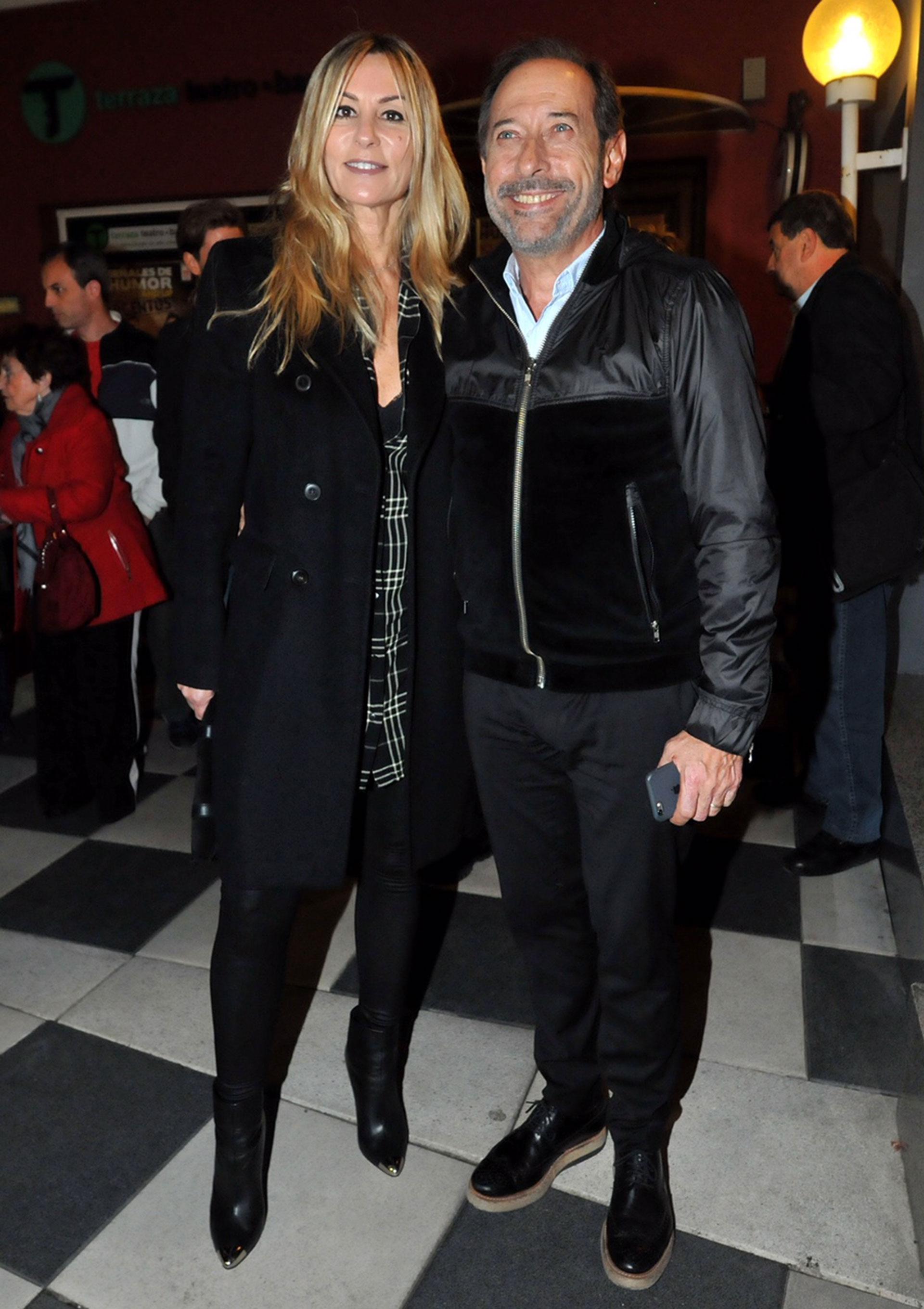 Guillermo Francella y su mujer Marynés.