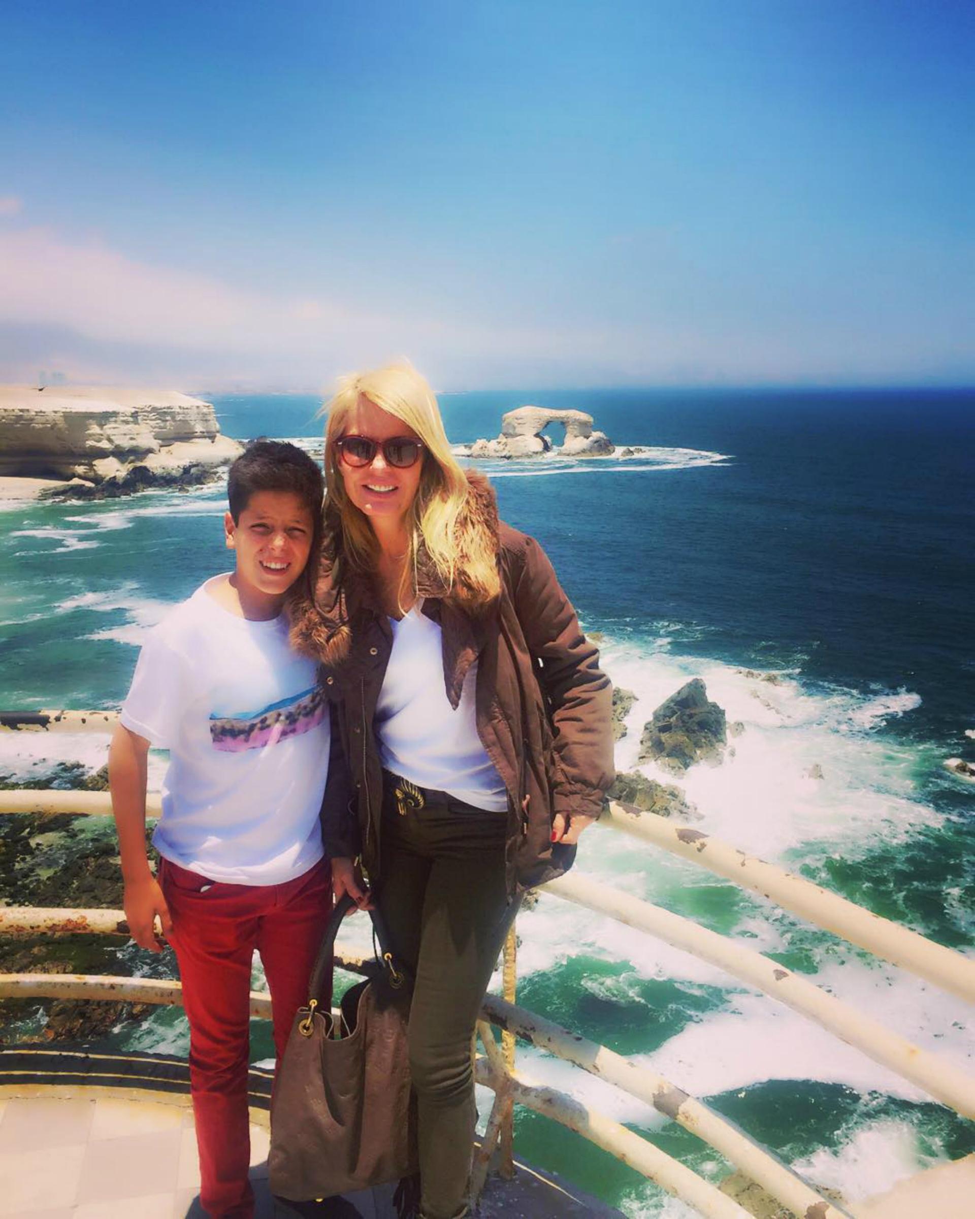 Máximo y Cecilia Bolocco. (Foto Instagram)